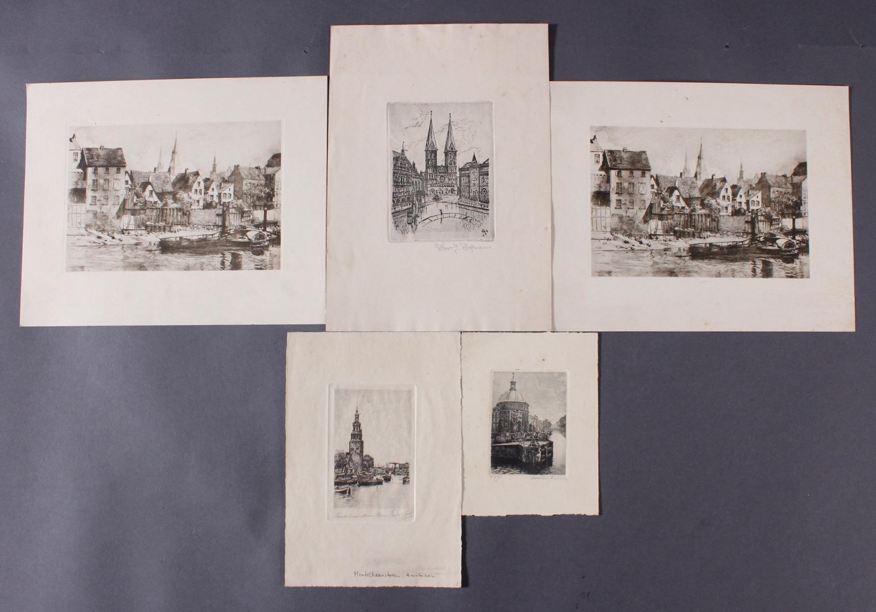 Fünf Radierungen, Bremen und Amsterdam
