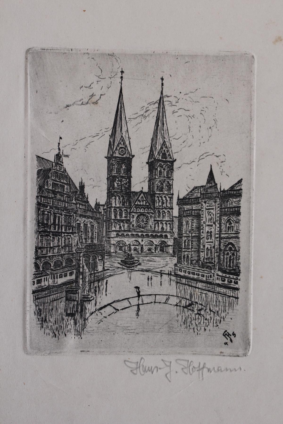 Fünf Radierungen, Bremen und Amsterdam-6