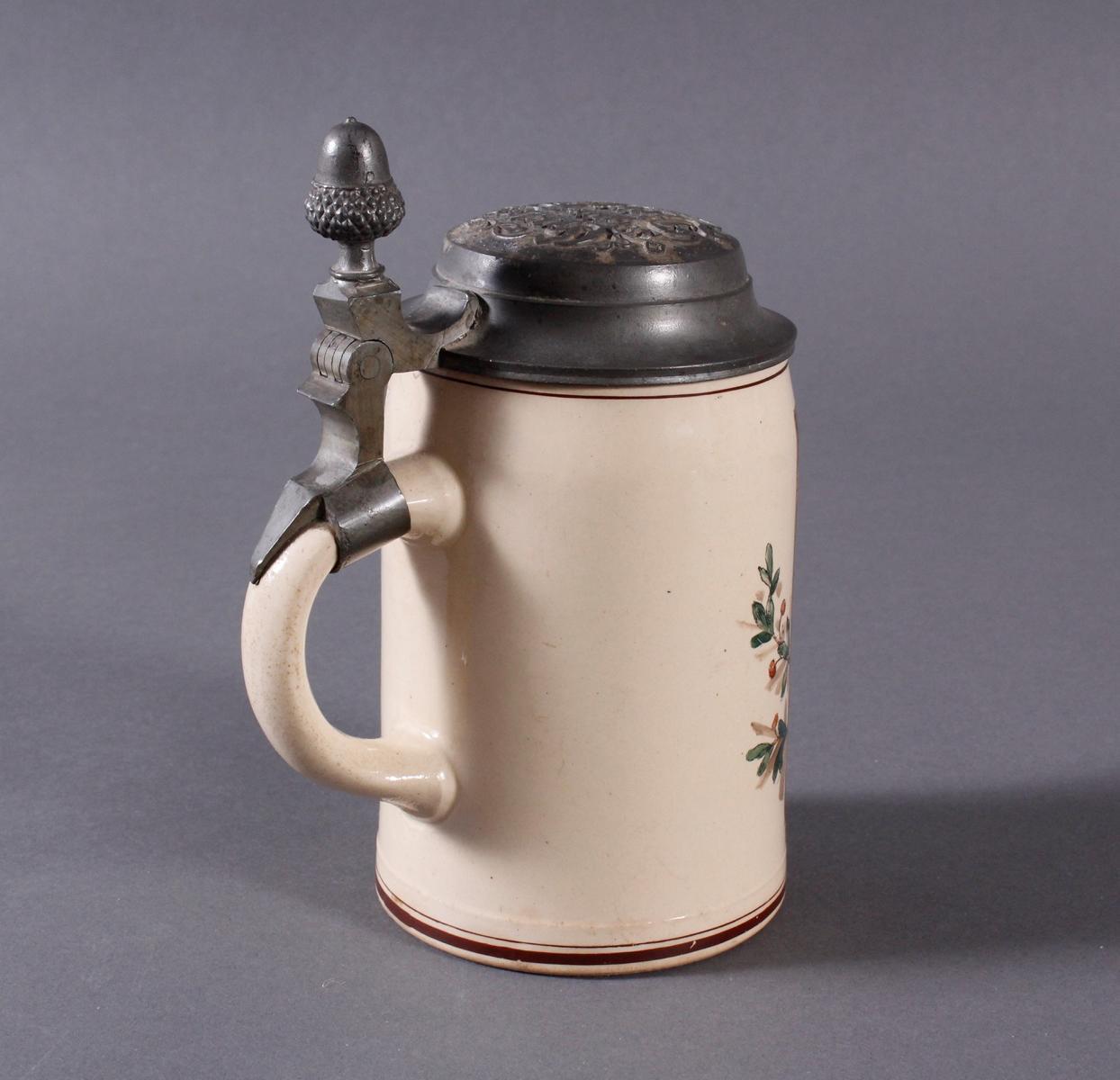 2 Keramikkrüge um 1900, Kegeln und Gewerbeausstellung-12