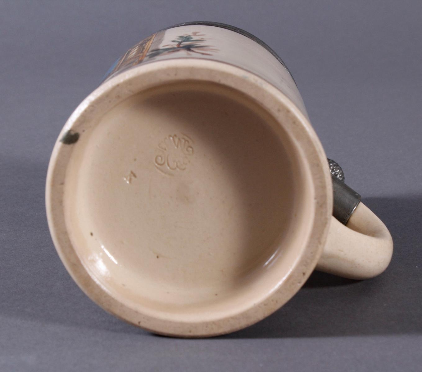 2 Keramikkrüge um 1900, Kegeln und Gewerbeausstellung-13
