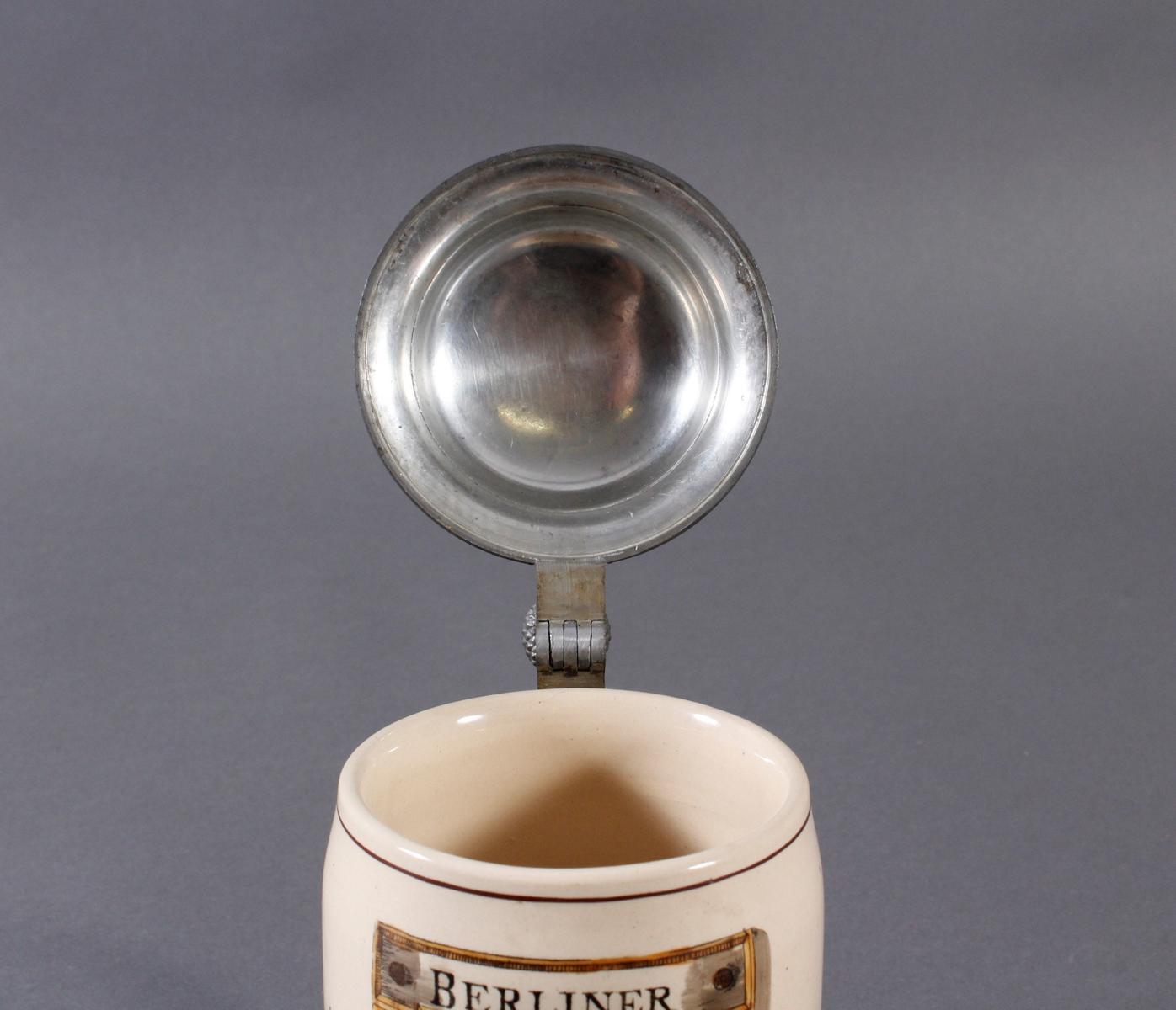 2 Keramikkrüge um 1900, Kegeln und Gewerbeausstellung-14