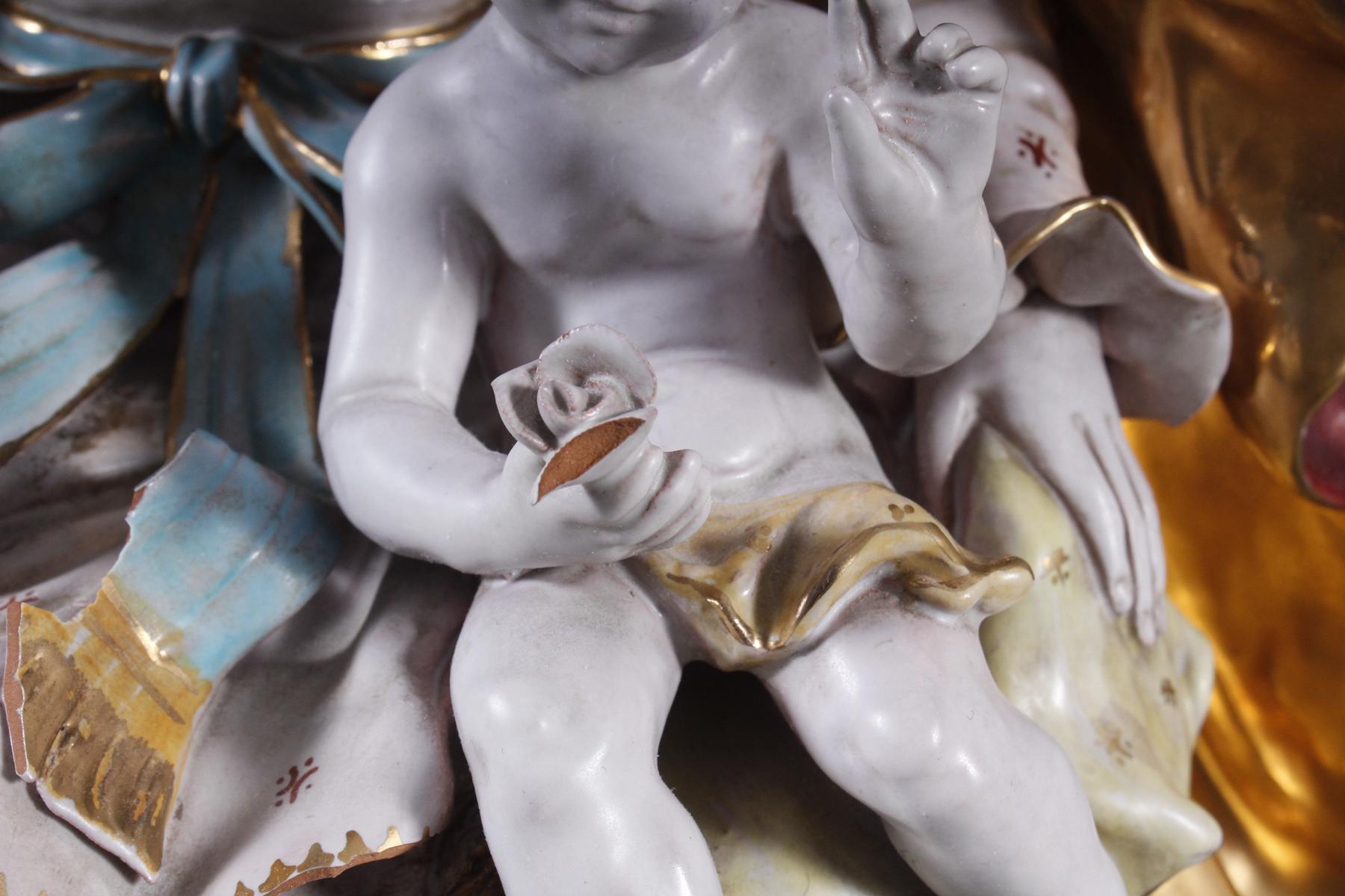 Keramik-Skulptur Madonna mit Kind, wohl Italien 2. Hälfte 20. Jh.-2