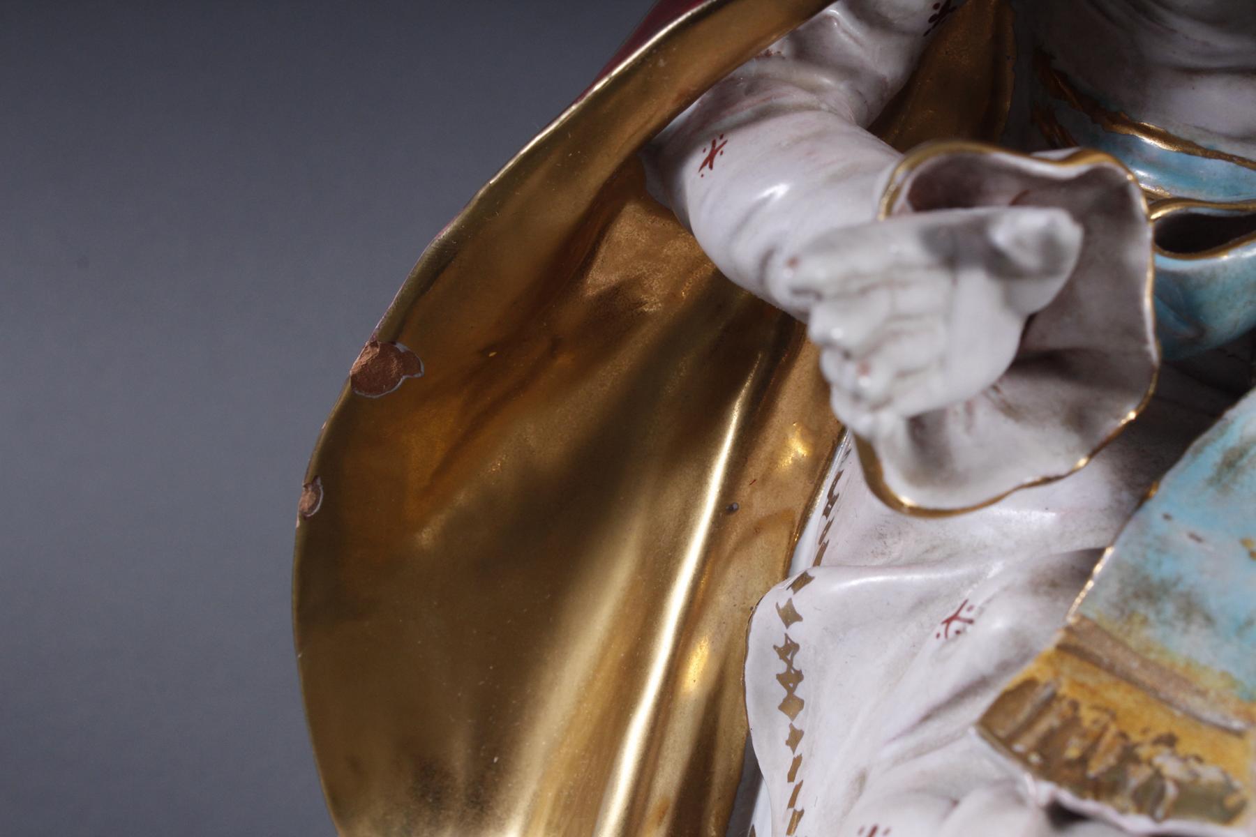 Keramik-Skulptur Madonna mit Kind, wohl Italien 2. Hälfte 20. Jh.-3