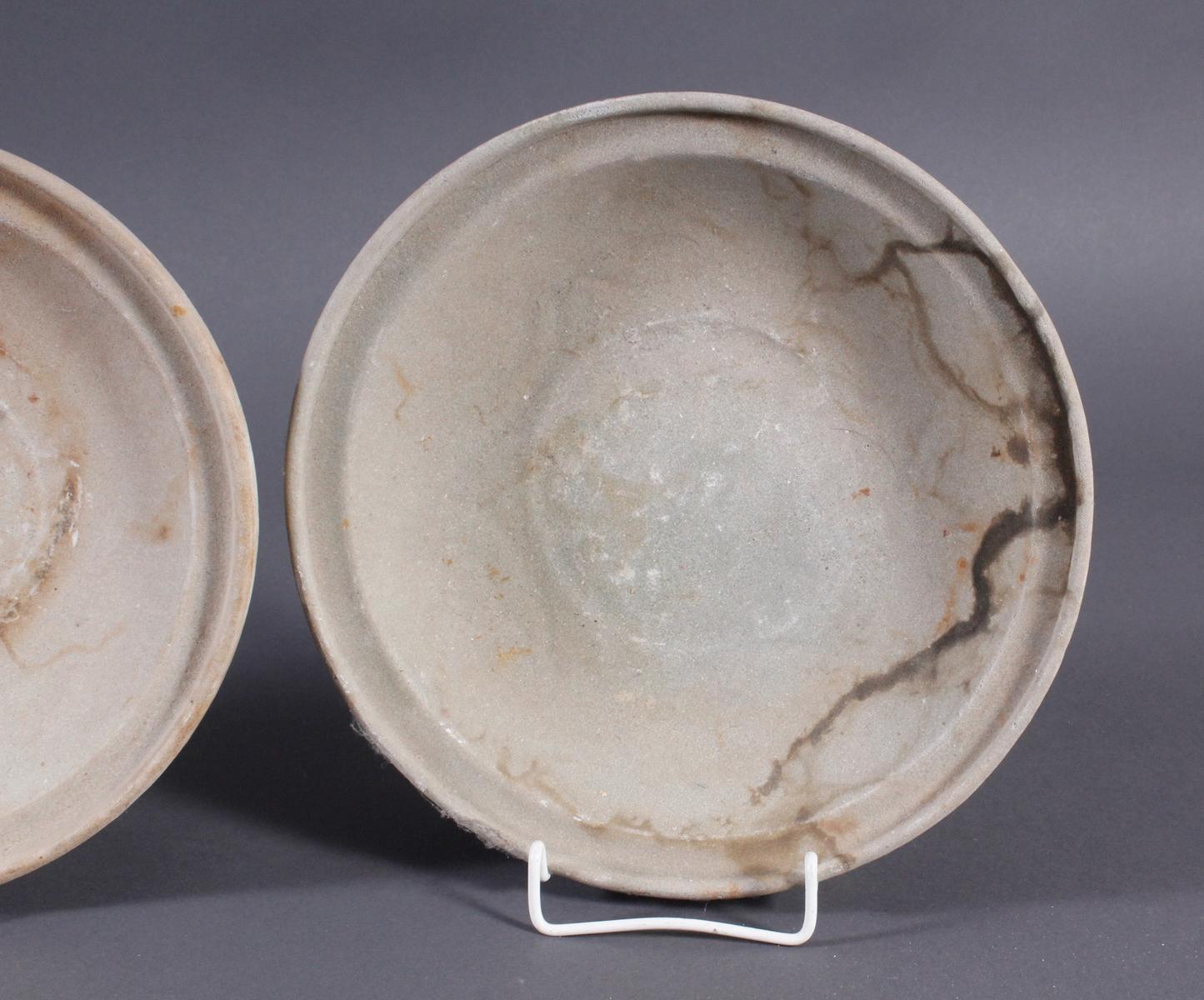 4 Teller, Ankor-Periode 12./13. Jahrhundert, Kambodscha-5