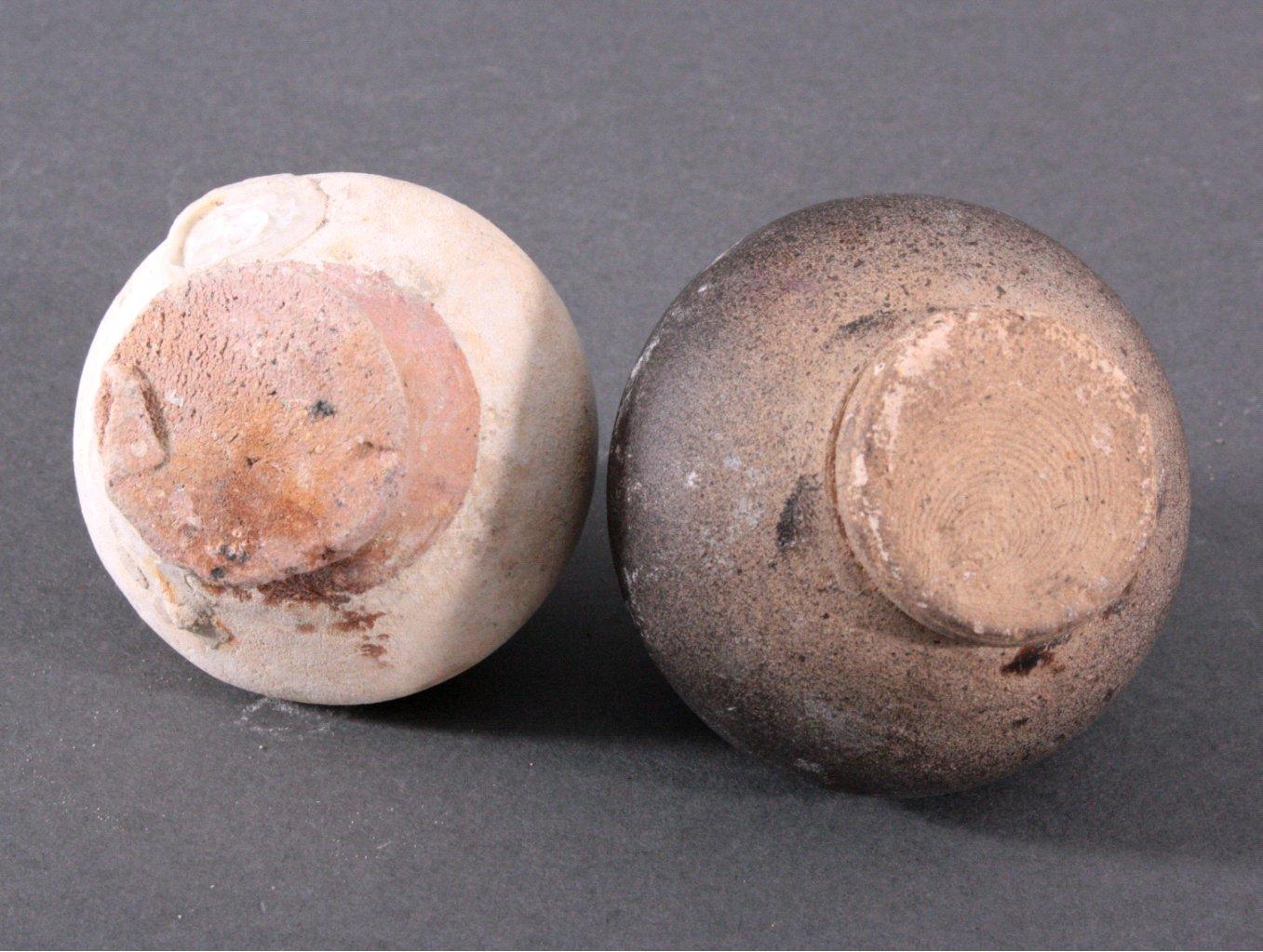 2 kleine Vorratsgefäße, Ankor-Periode 12./13. Jahrhundert, Kambodscha-3