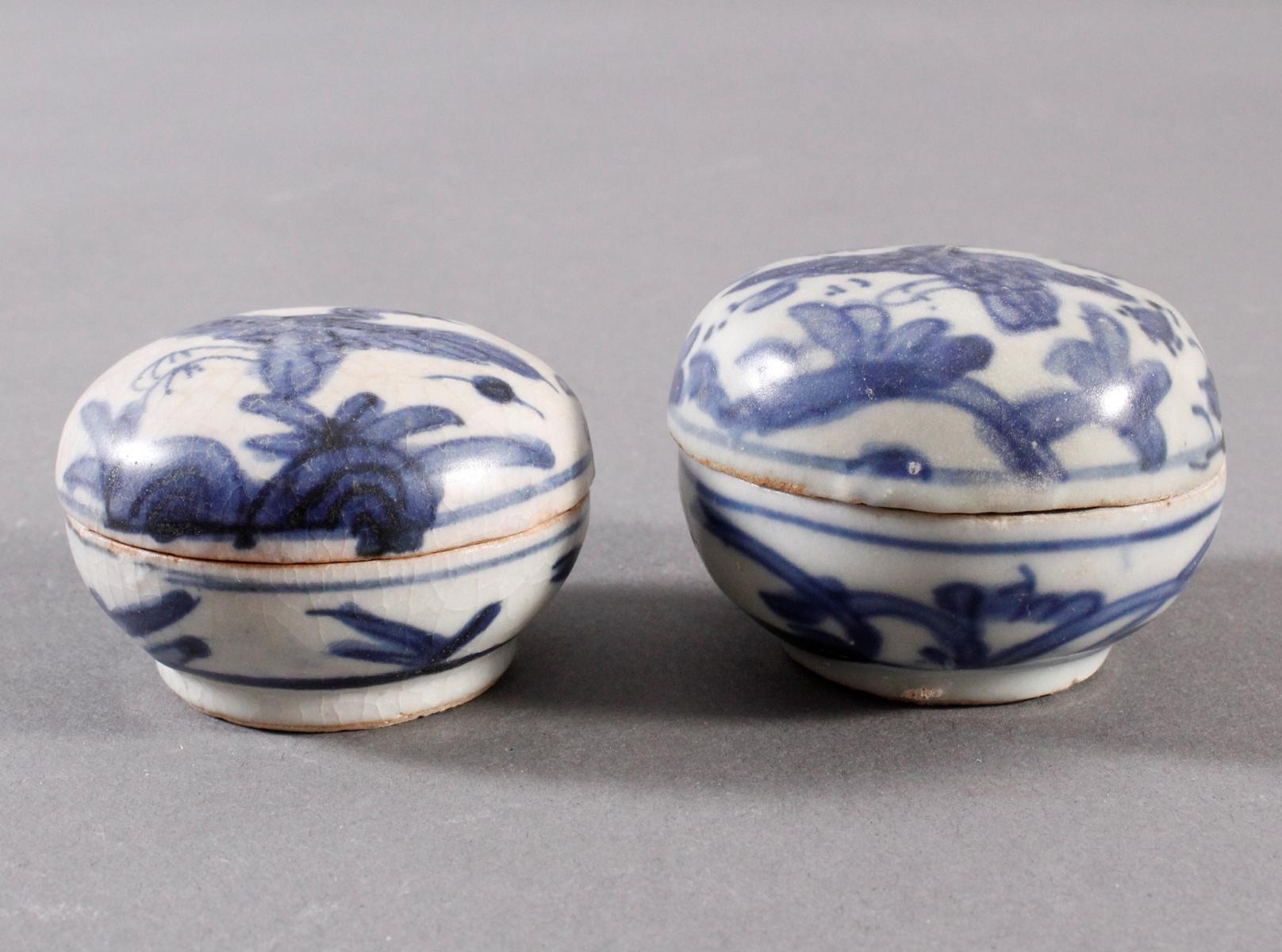 2 kleine Deckelgefäße, China Qing Dynasti