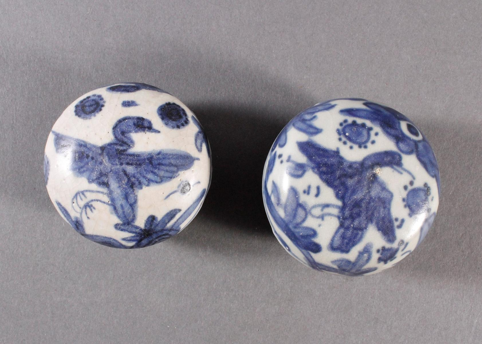 2 kleine Deckelgefäße, China Qing Dynasti-2