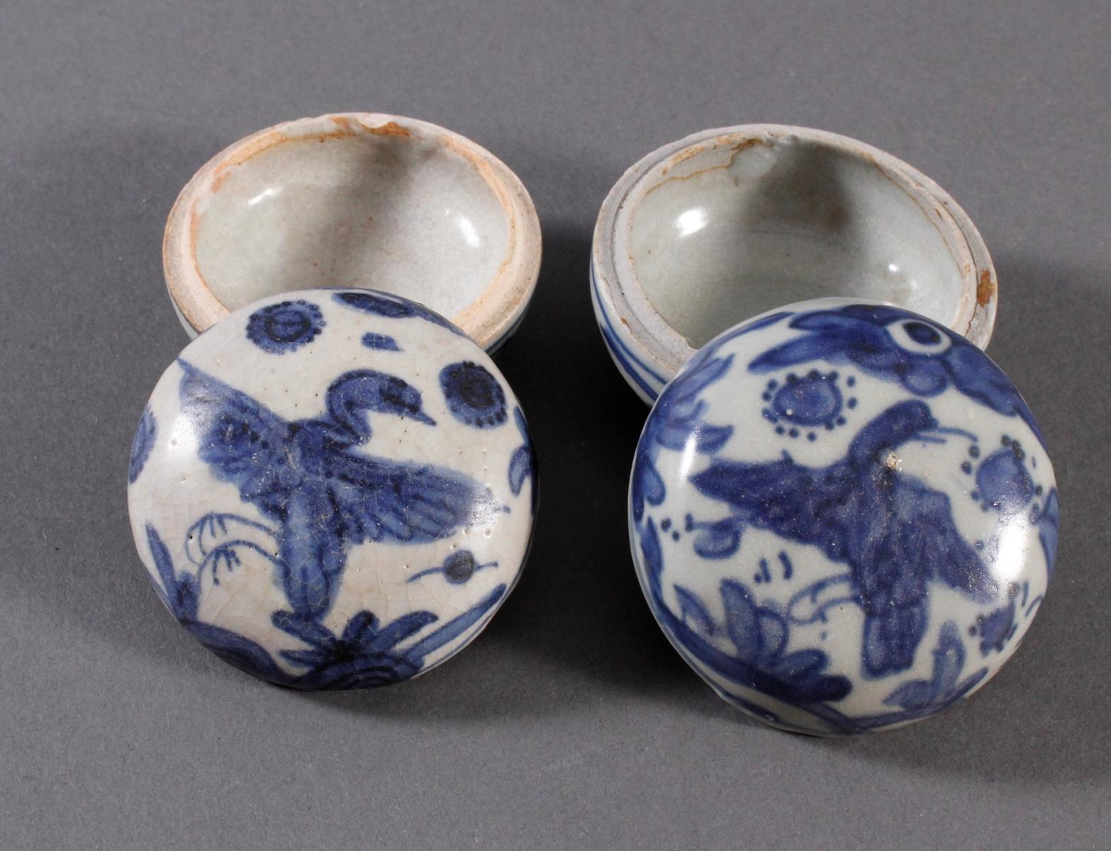 2 kleine Deckelgefäße, China Qing Dynasti-3