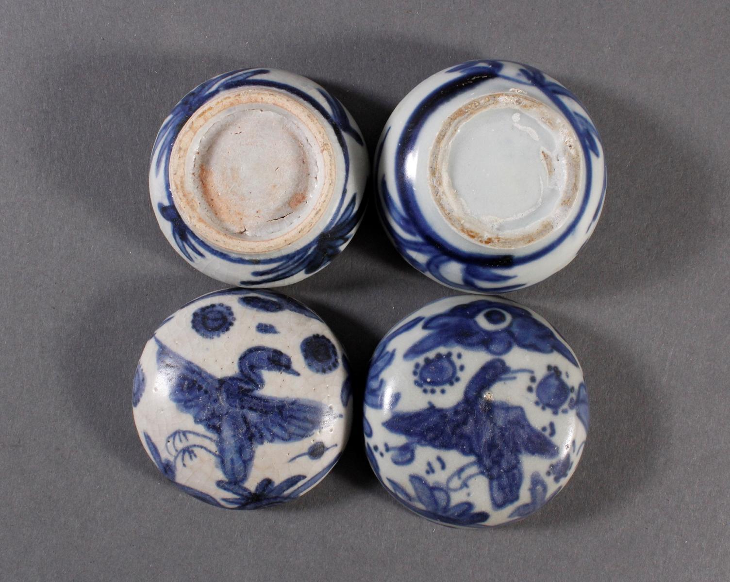 2 kleine Deckelgefäße, China Qing Dynasti-5