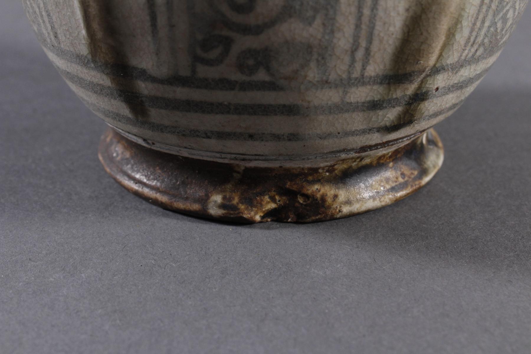 Rundes Deckelgefäße, Angkor Periode 12. / 13. Jahrhundert, Kambodscha-5