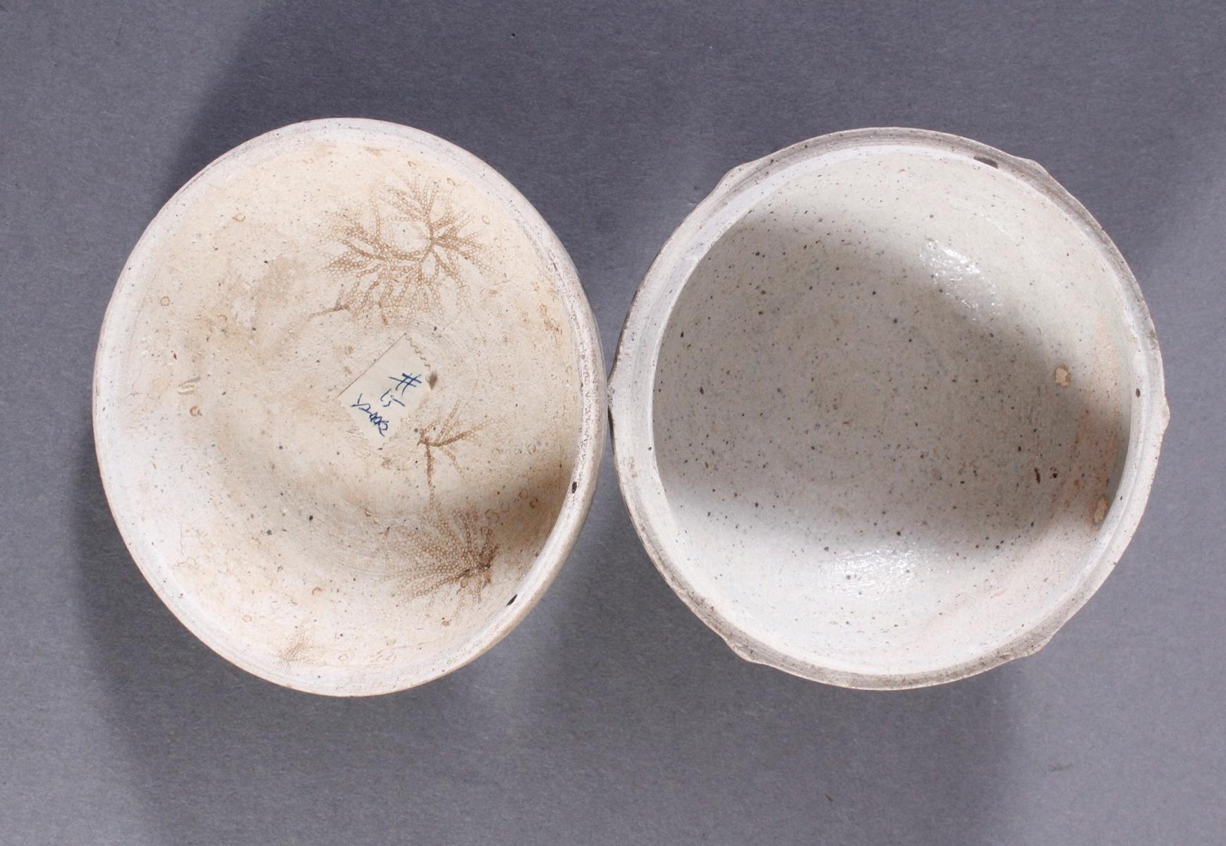Rundes Deckelgefäße, Angkor Periode 12. / 13. Jahrhundert, Kambodscha-7