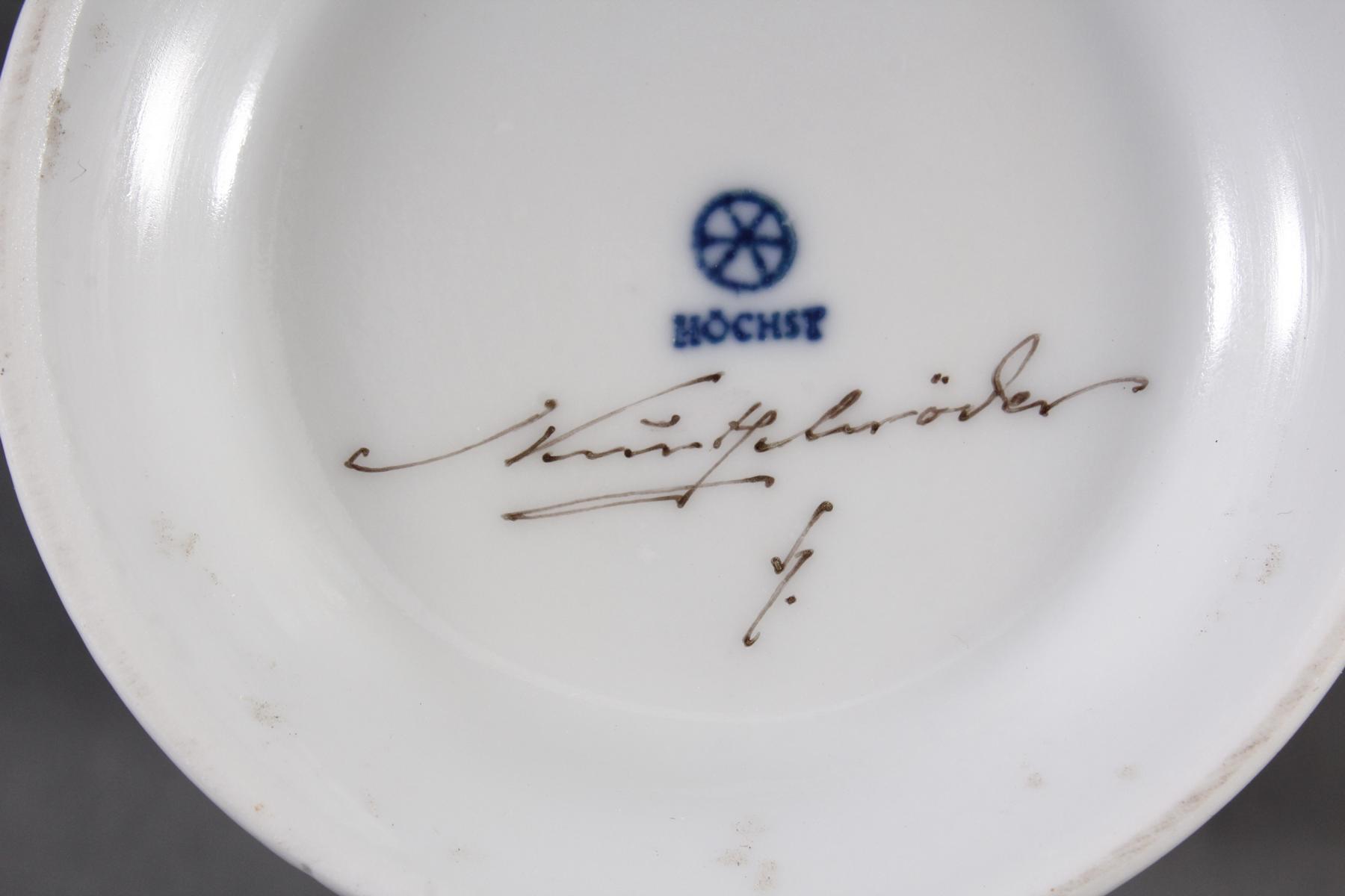 Konvolut Höchster Porzellan, signiert Kurt Schröder-2