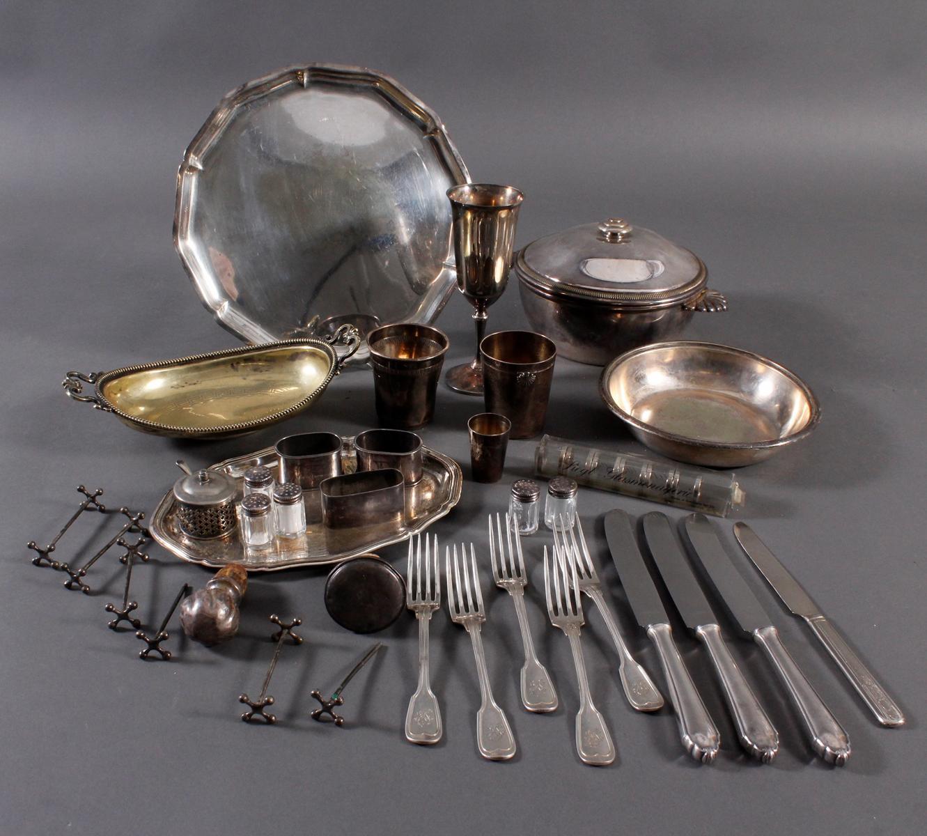 Konvolut Silber und versilbertes