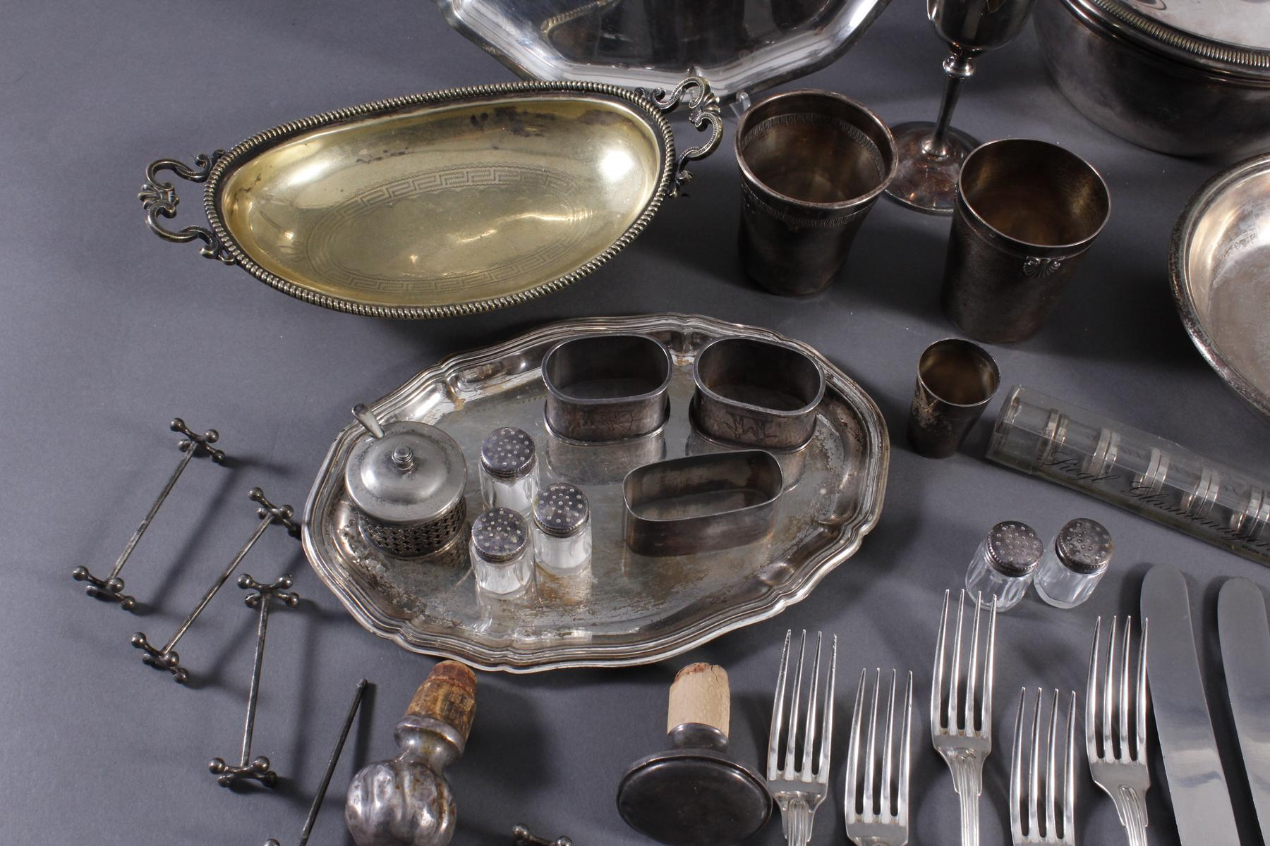 Konvolut Silber und versilbertes-6