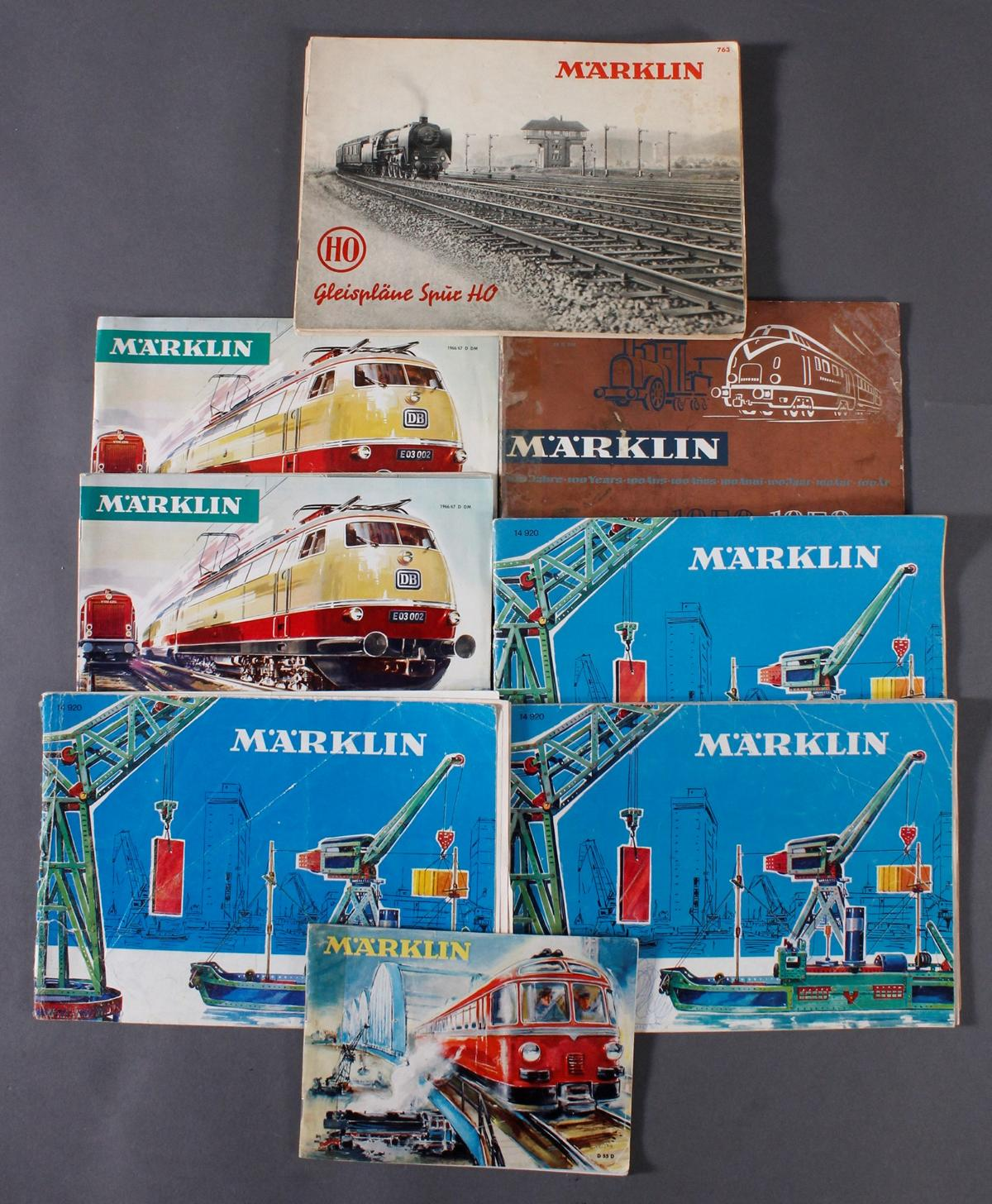 Konvolut Märklin Eisenbahn- und Modellbaukästenkataloge