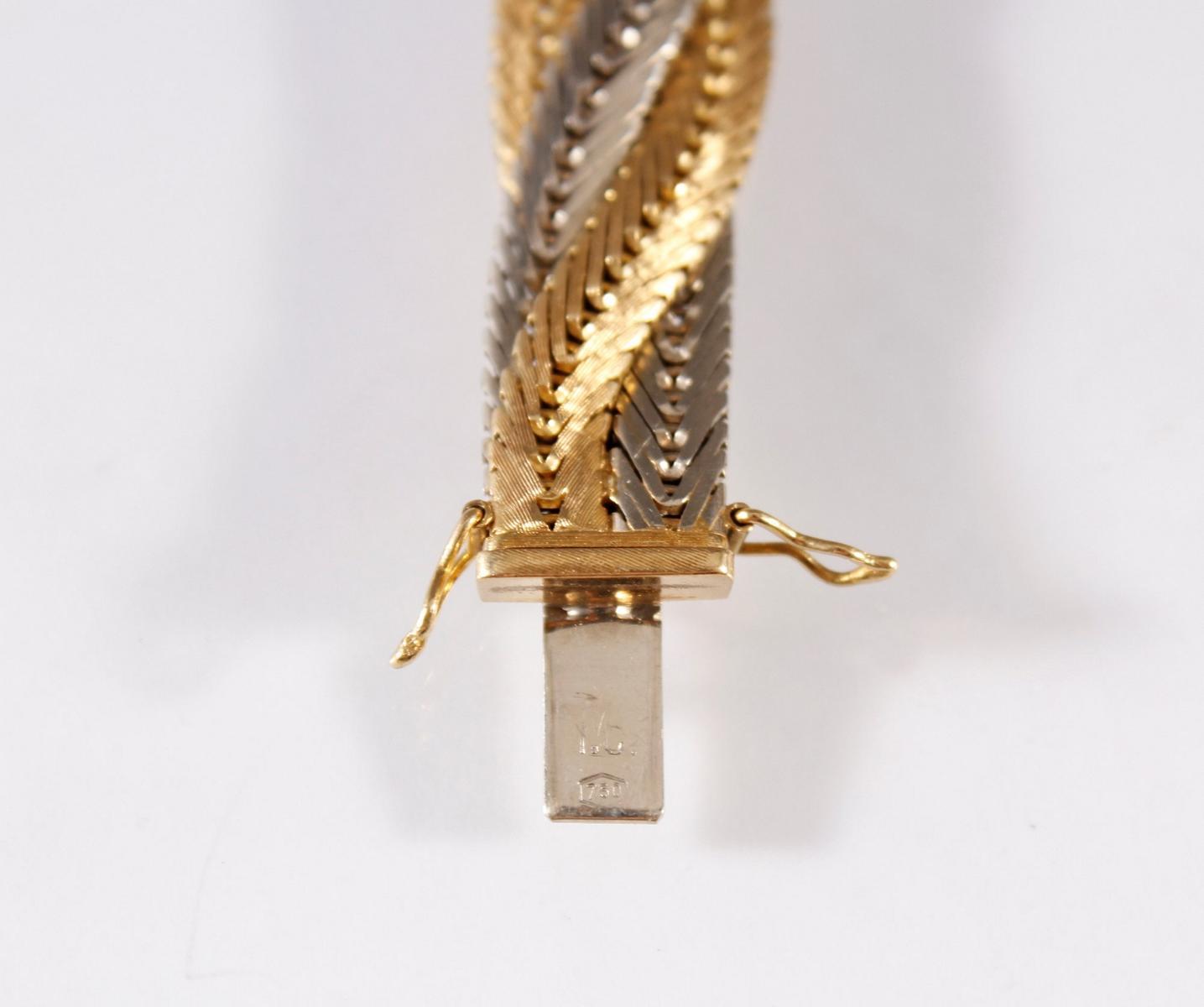 Damenarmband 18 Karat Gelb- und Weißgold-2