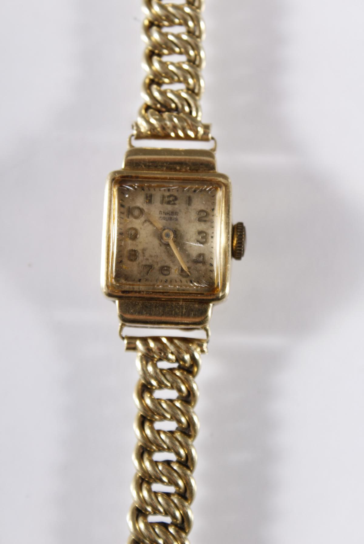 Damenarmbanduhr der Marke Anker, 14 Karat Gelbgold-2