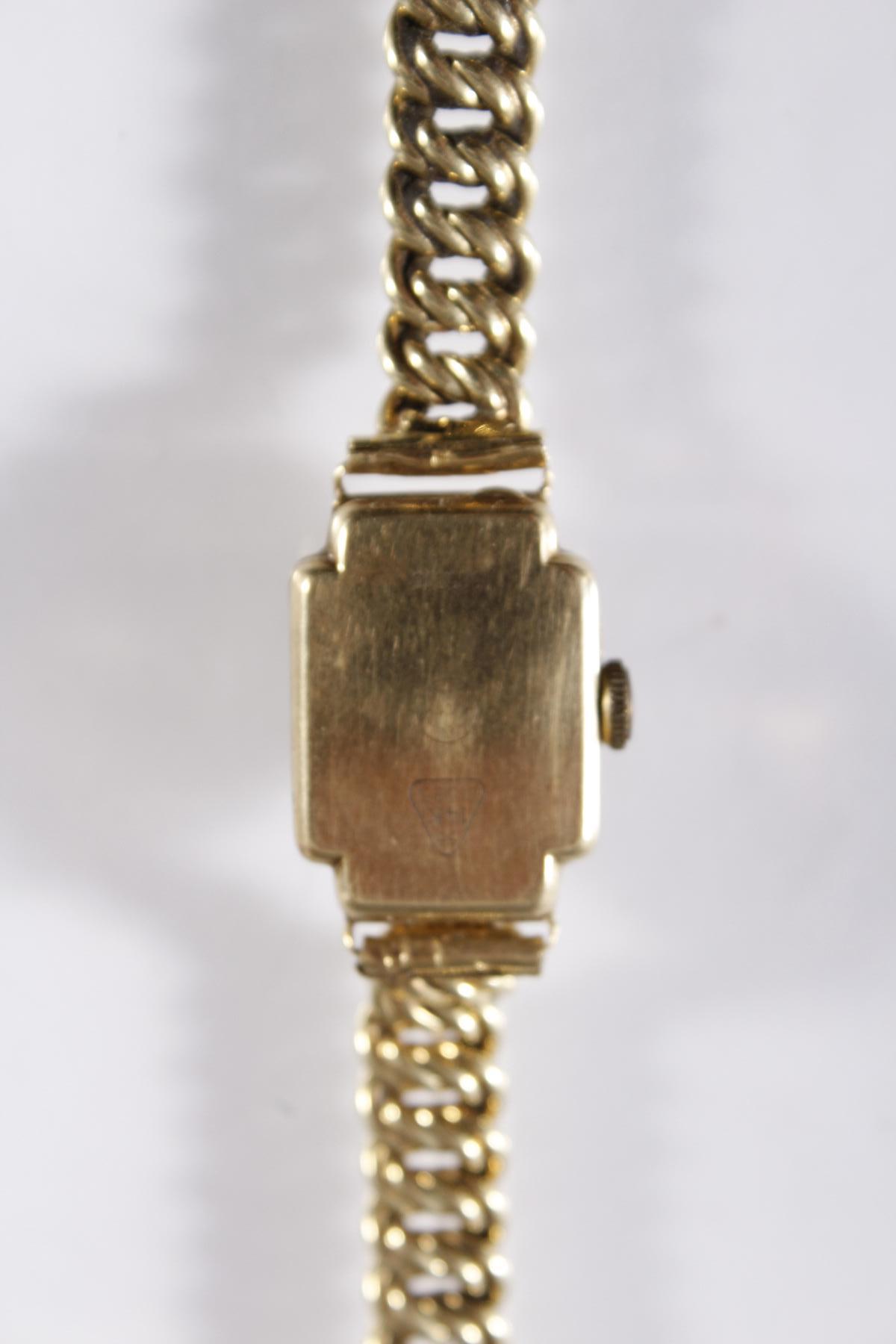 Damenarmbanduhr der Marke Anker, 14 Karat Gelbgold-3
