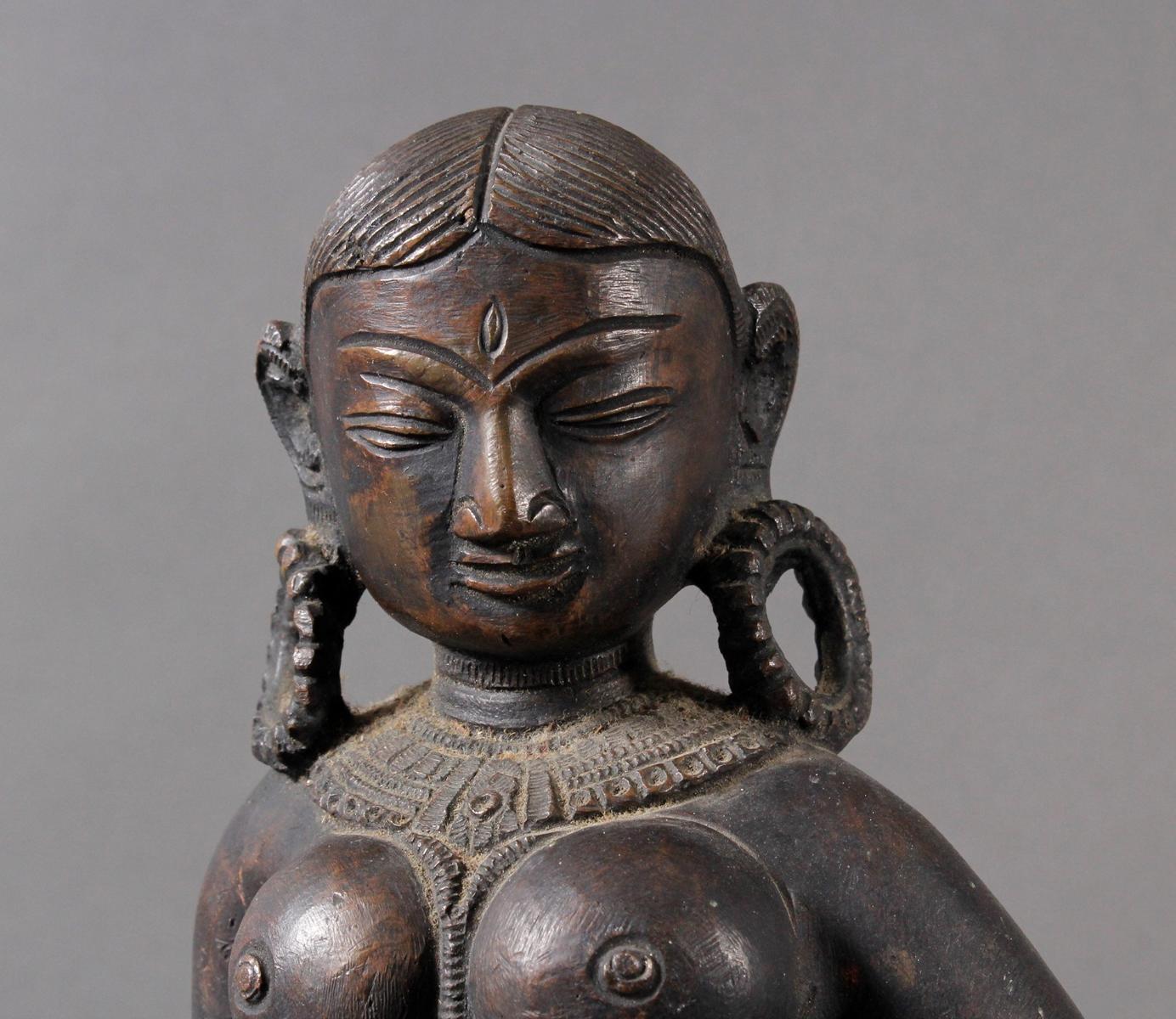 Bronze der hinduistischen Gottheit Shakti-5