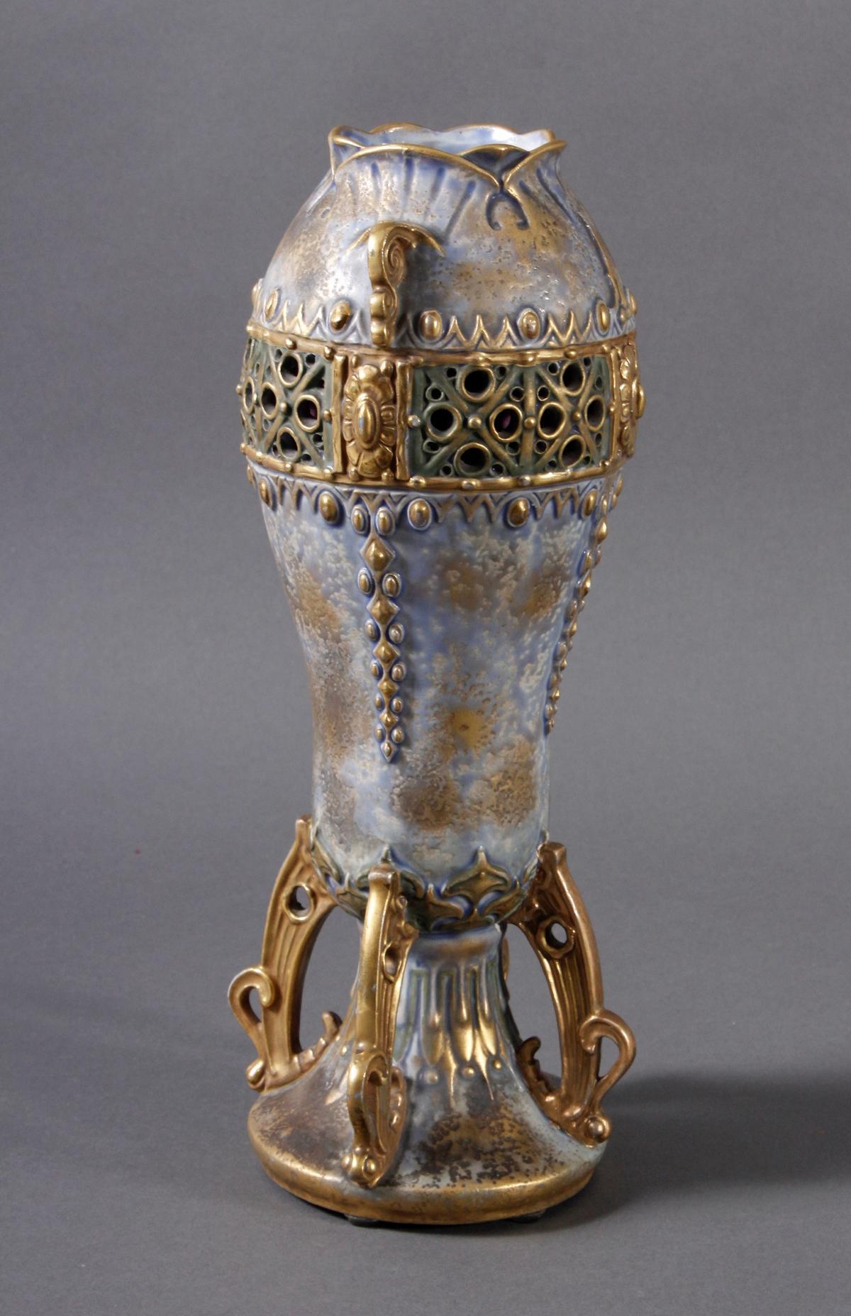 Jugendstil Keramikvase Amphora Austria