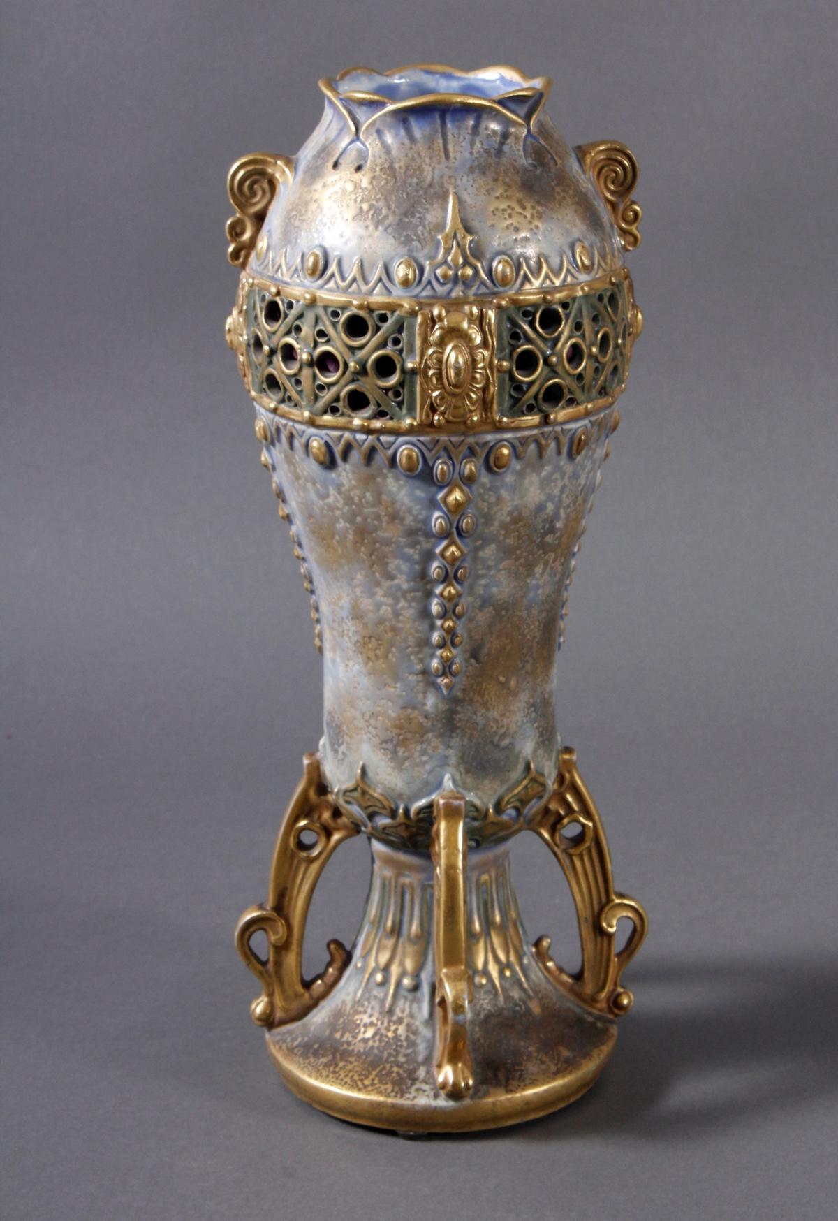Jugendstil Keramikvase Amphora Austria-2