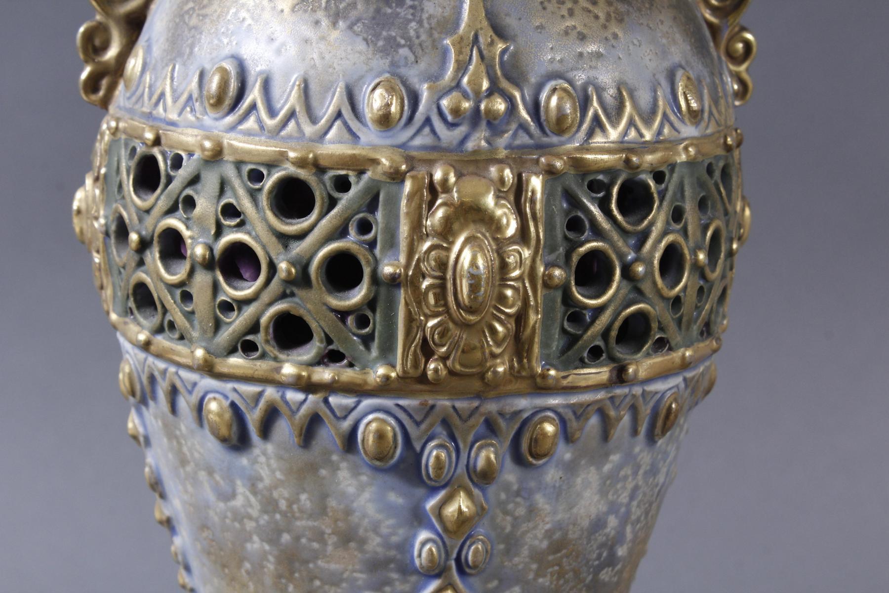 Jugendstil Keramikvase Amphora Austria-3