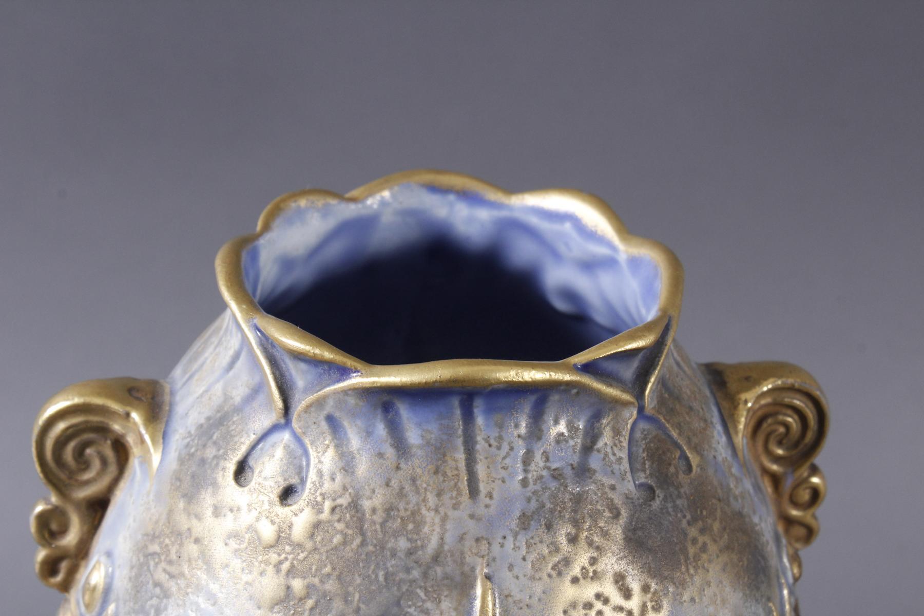 Jugendstil Keramikvase Amphora Austria-4