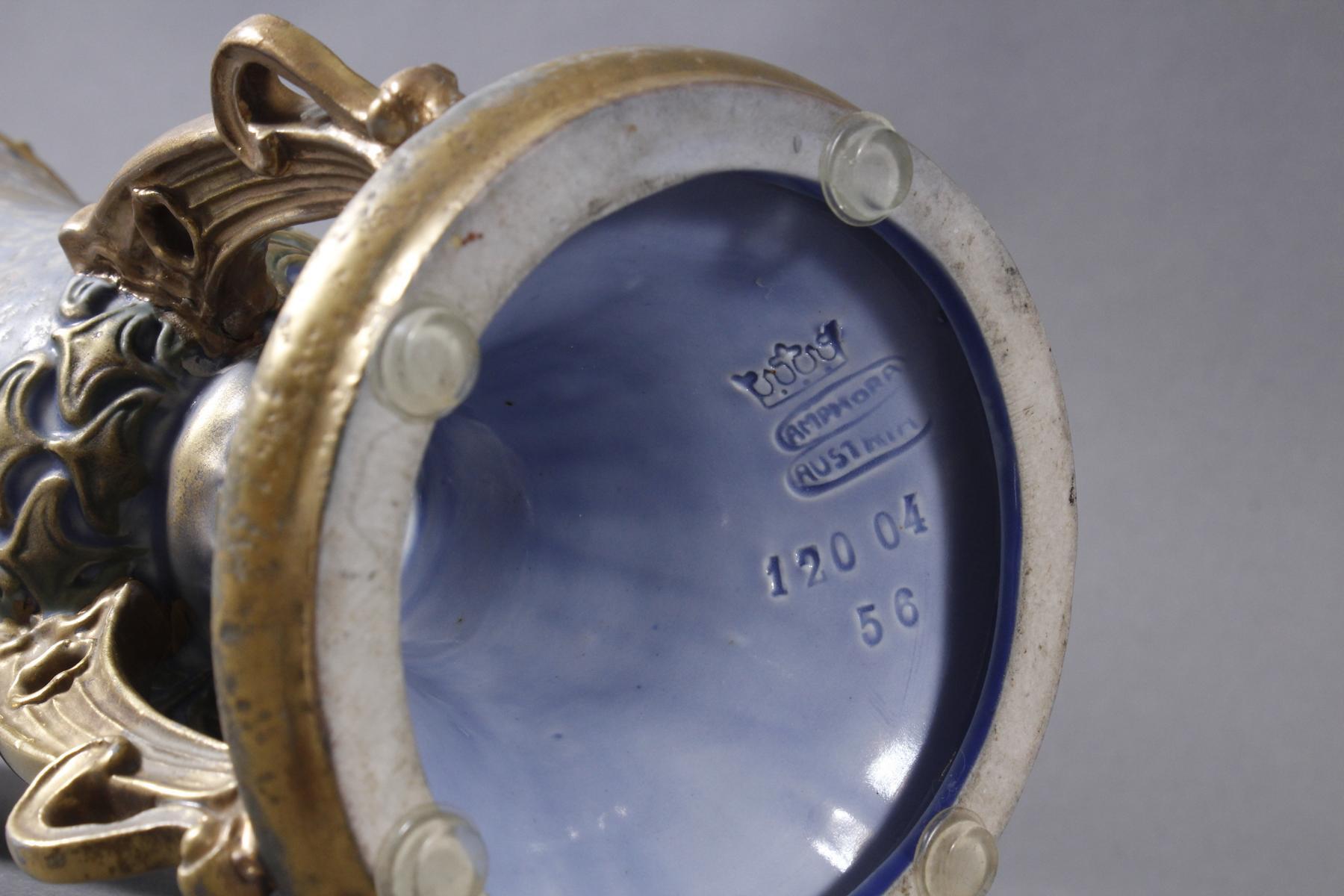 Jugendstil Keramikvase Amphora Austria-7