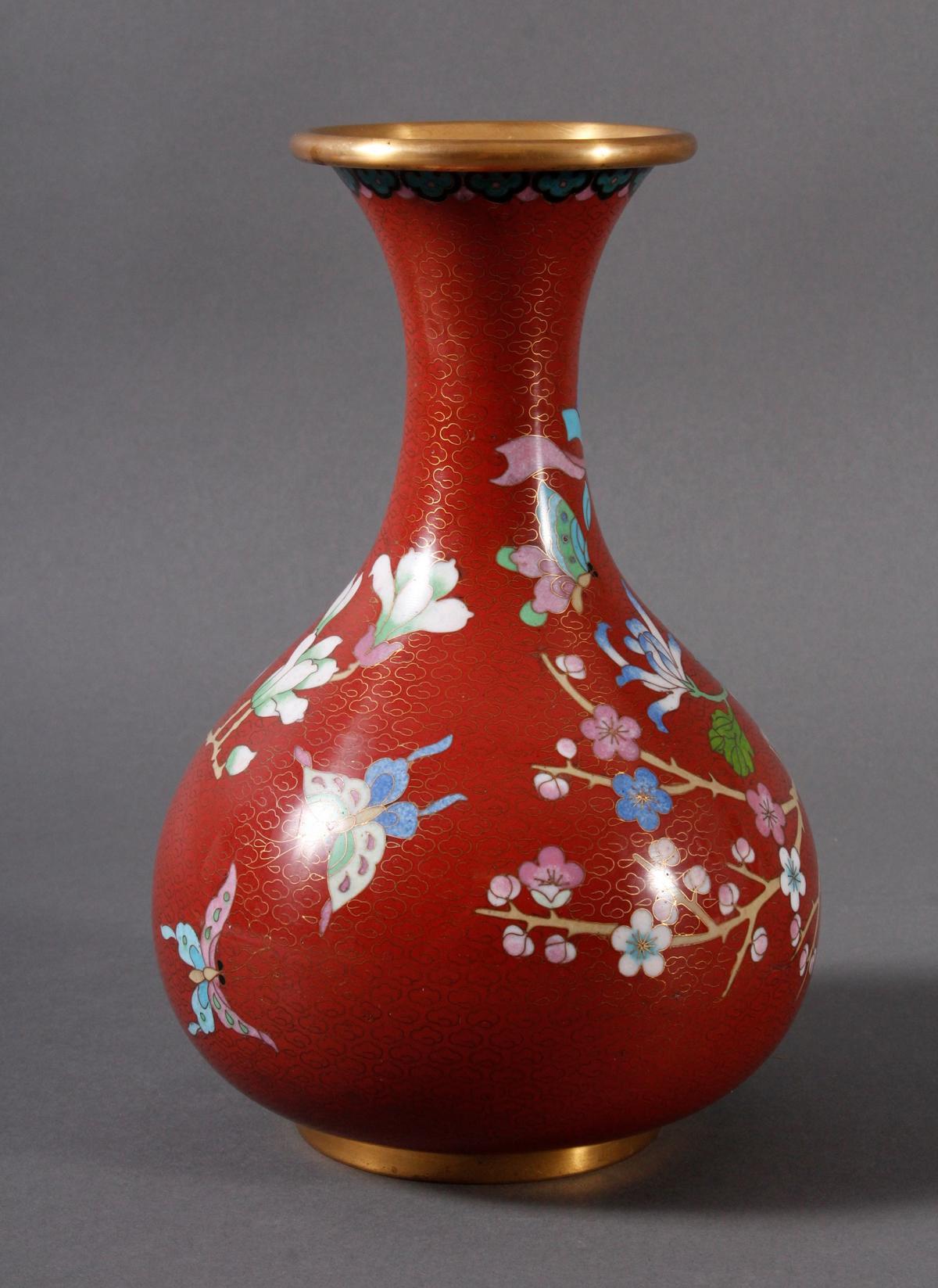 Cloisonnévase, China 20er/30er Jahre-3