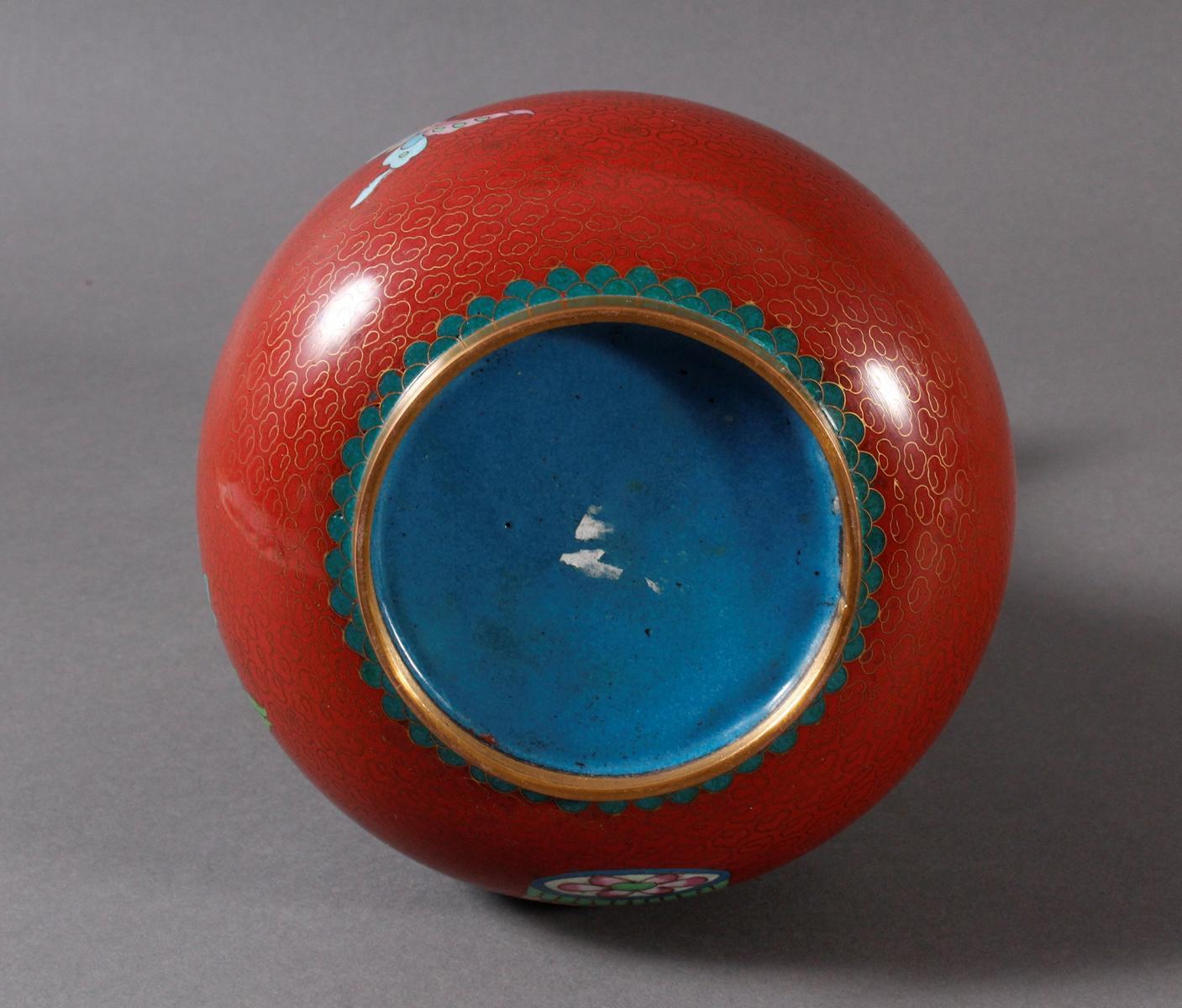 Cloisonnévase, China 20er/30er Jahre-5