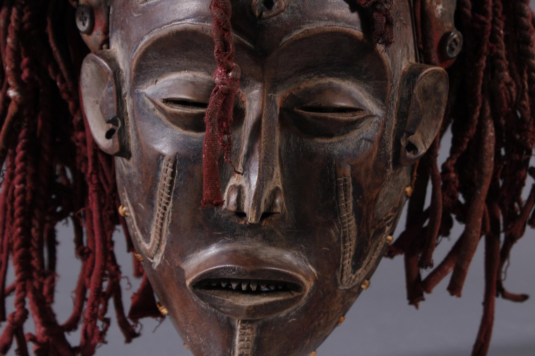 Weibliche Tanzmaske 'Mwana pwo'-3