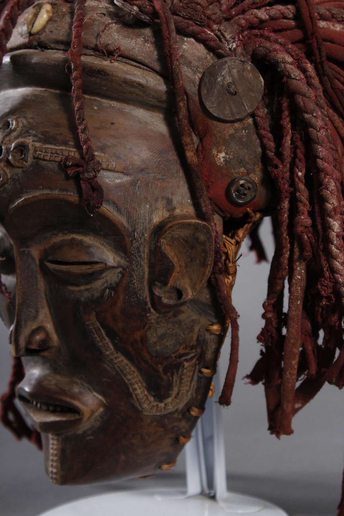 Weibliche Tanzmaske 'Mwana pwo'-5