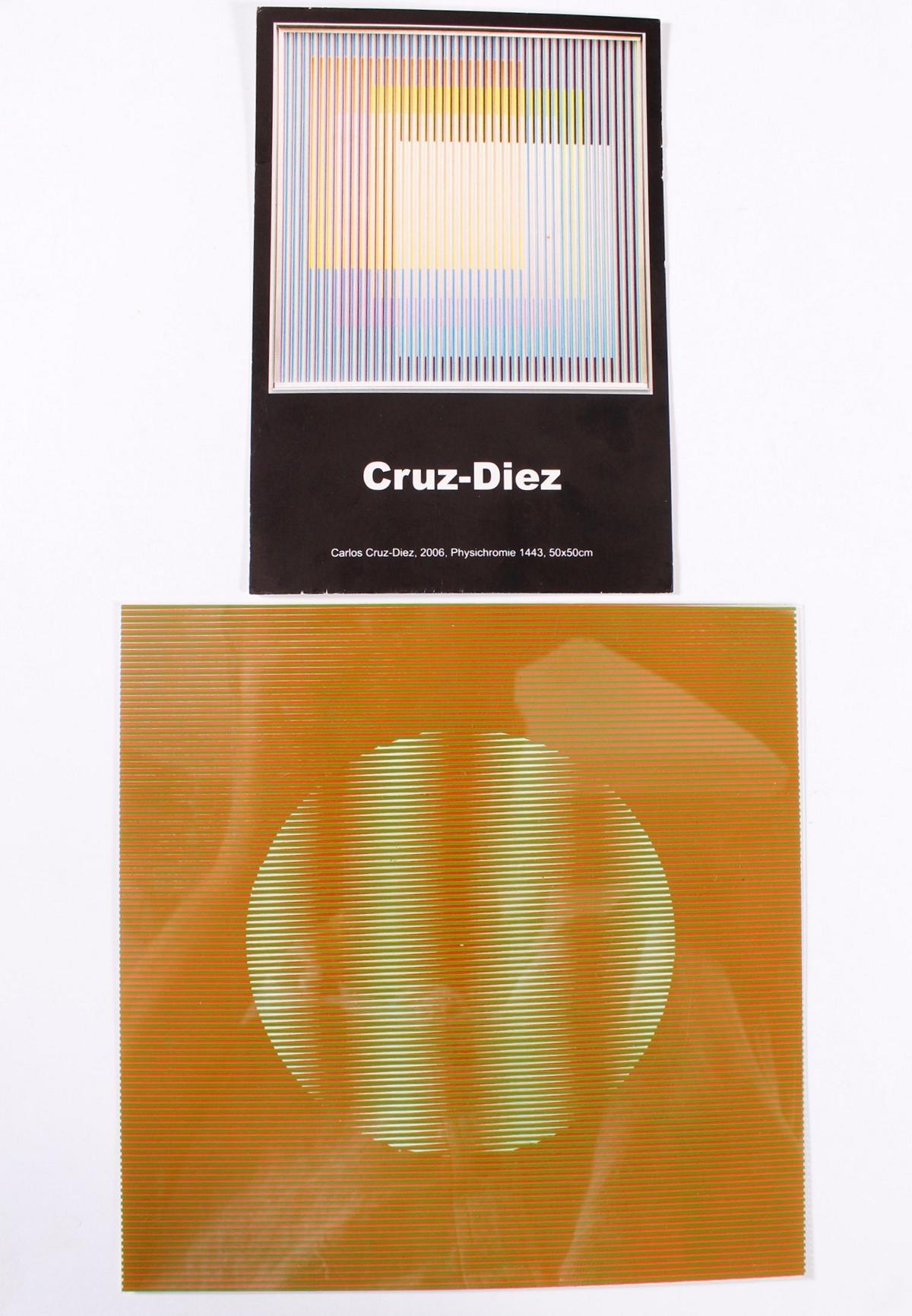 Carlos Cruz-Diez, Serigraphie aus Plexiglas