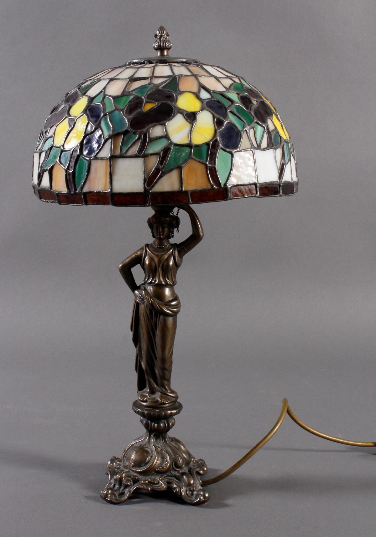 Tischlampe im Tiffany-Stil, 2. Hälfte 20. Jh.