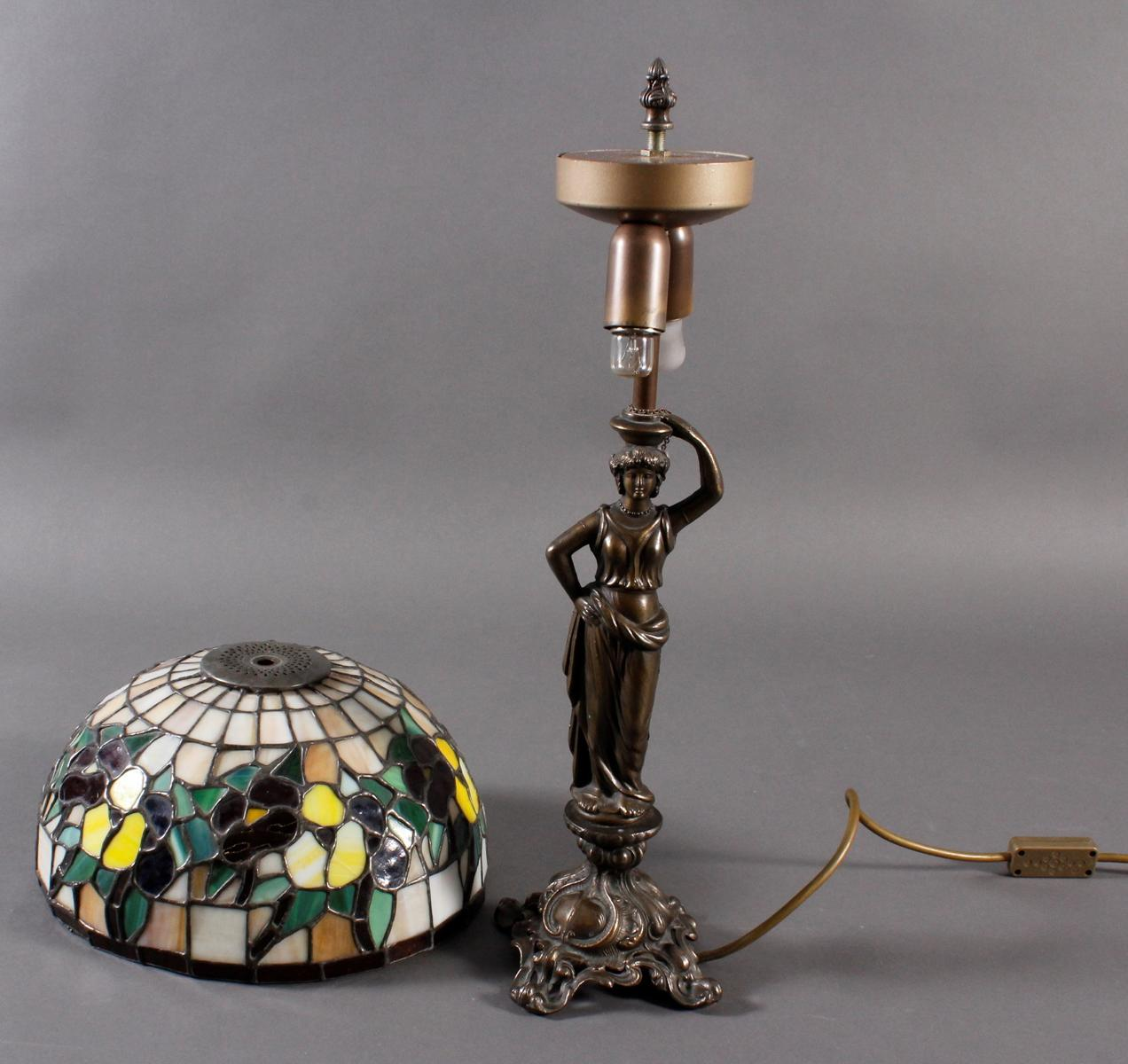 Tischlampe im Tiffany-Stil, 2. Hälfte 20. Jh.-2
