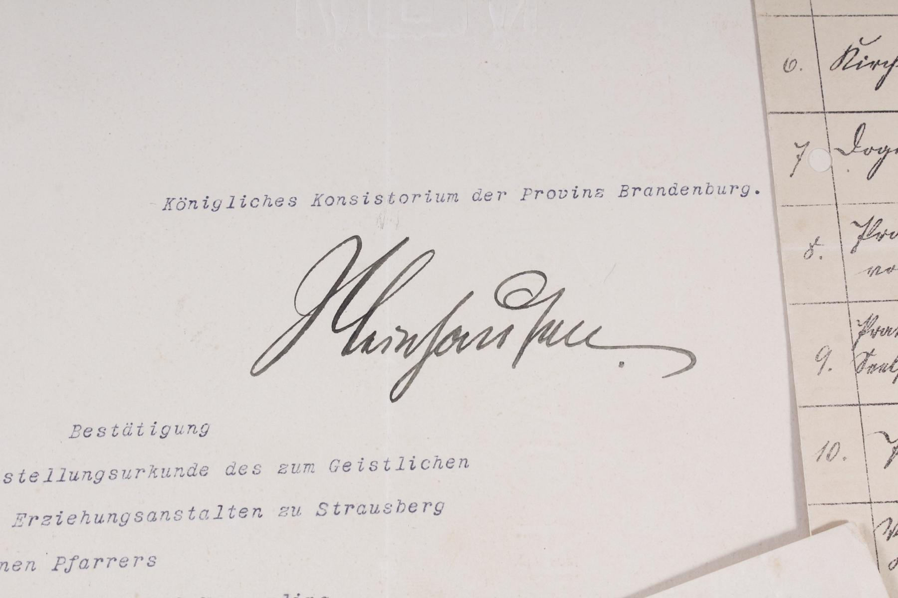 Dokumente, Urkunden uä. eines Pfarrers in Königsberg (Ostpreußen)-2