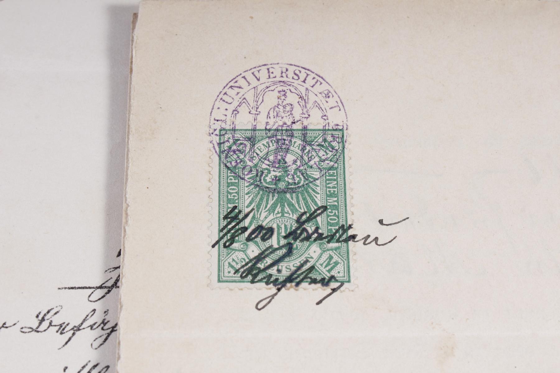 Dokumente, Urkunden uä. eines Pfarrers in Königsberg (Ostpreußen)-5