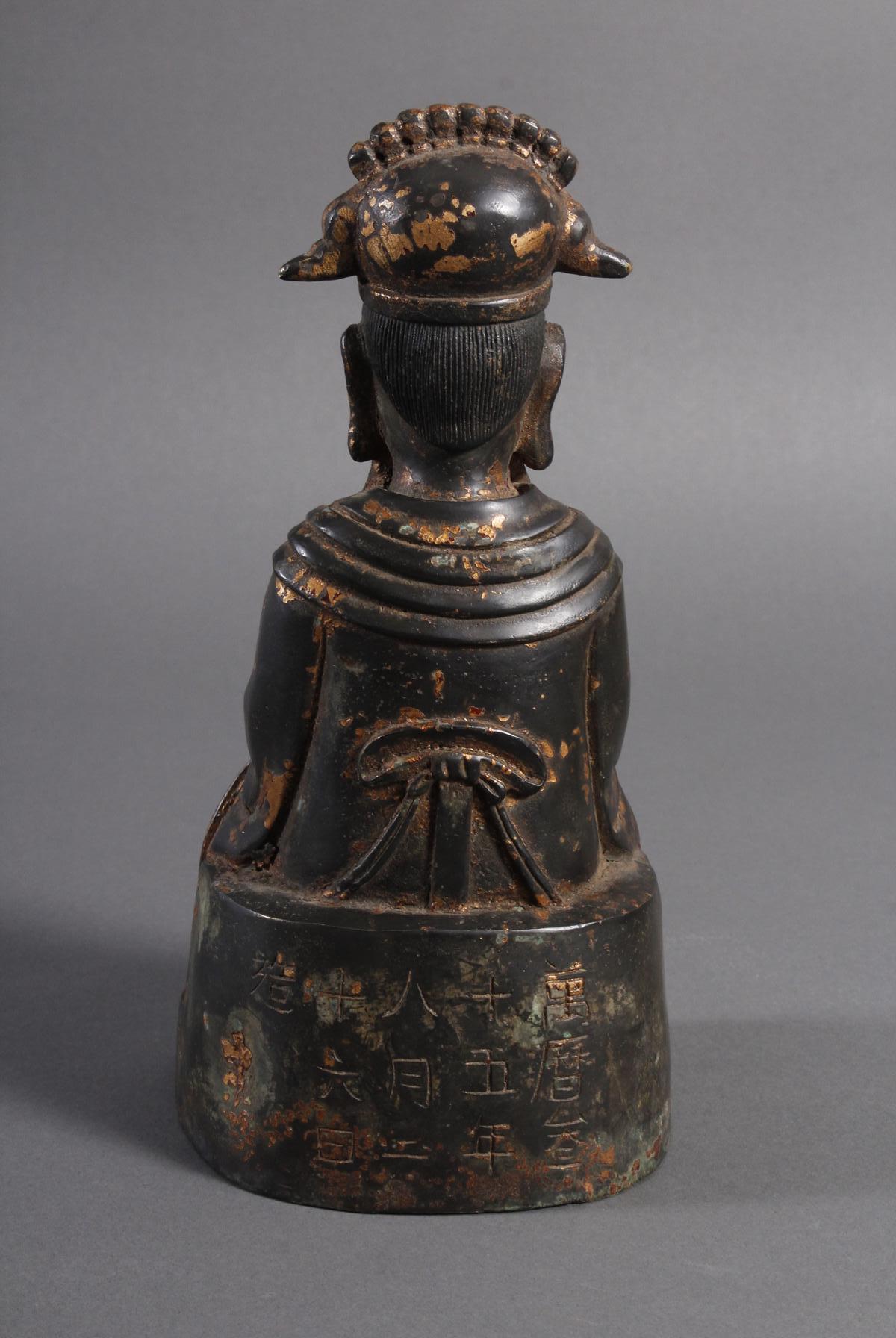 Bronze Buddha, China 19. / 20. Jahrhundert-3