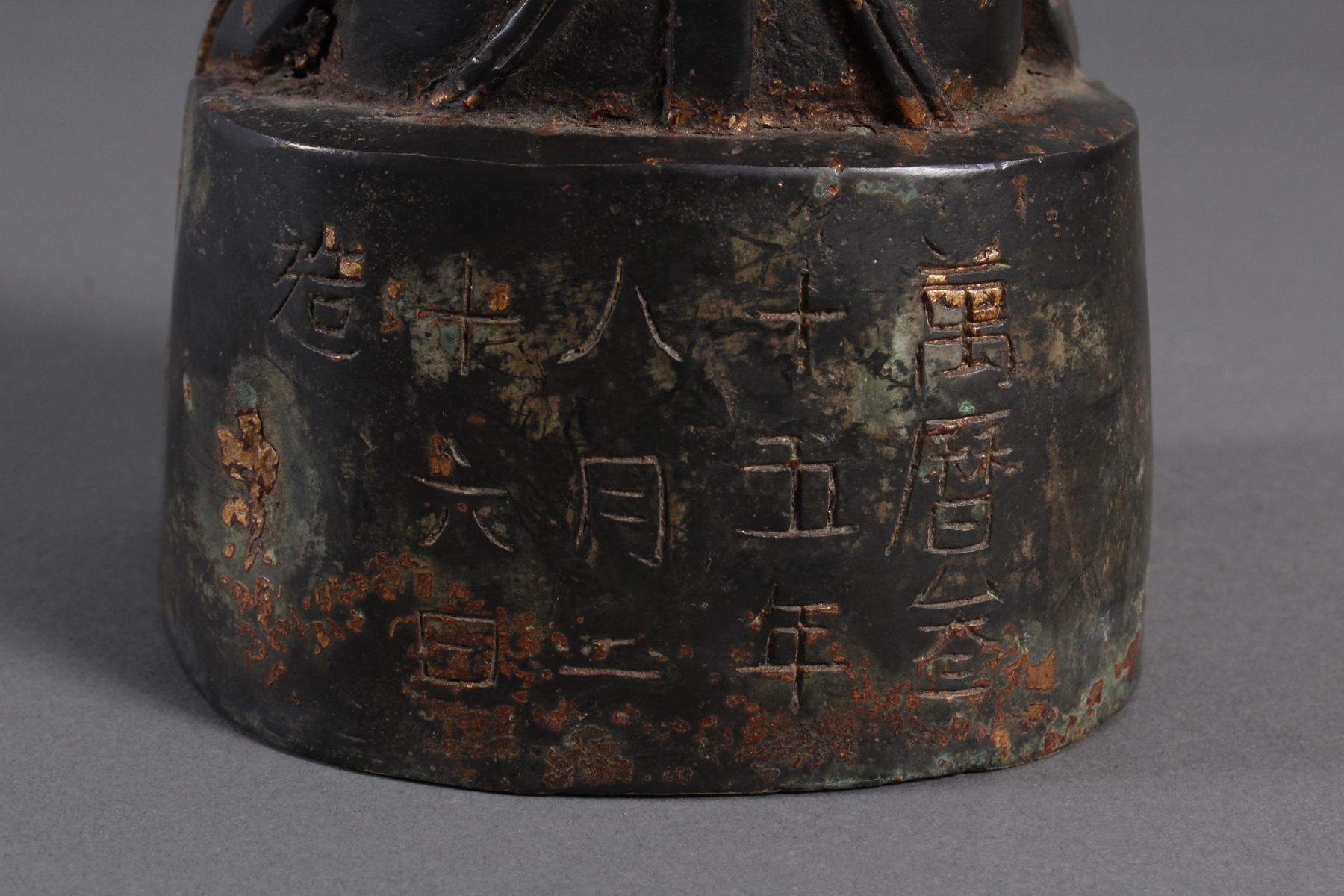 Bronze Buddha, China 19. / 20. Jahrhundert-4