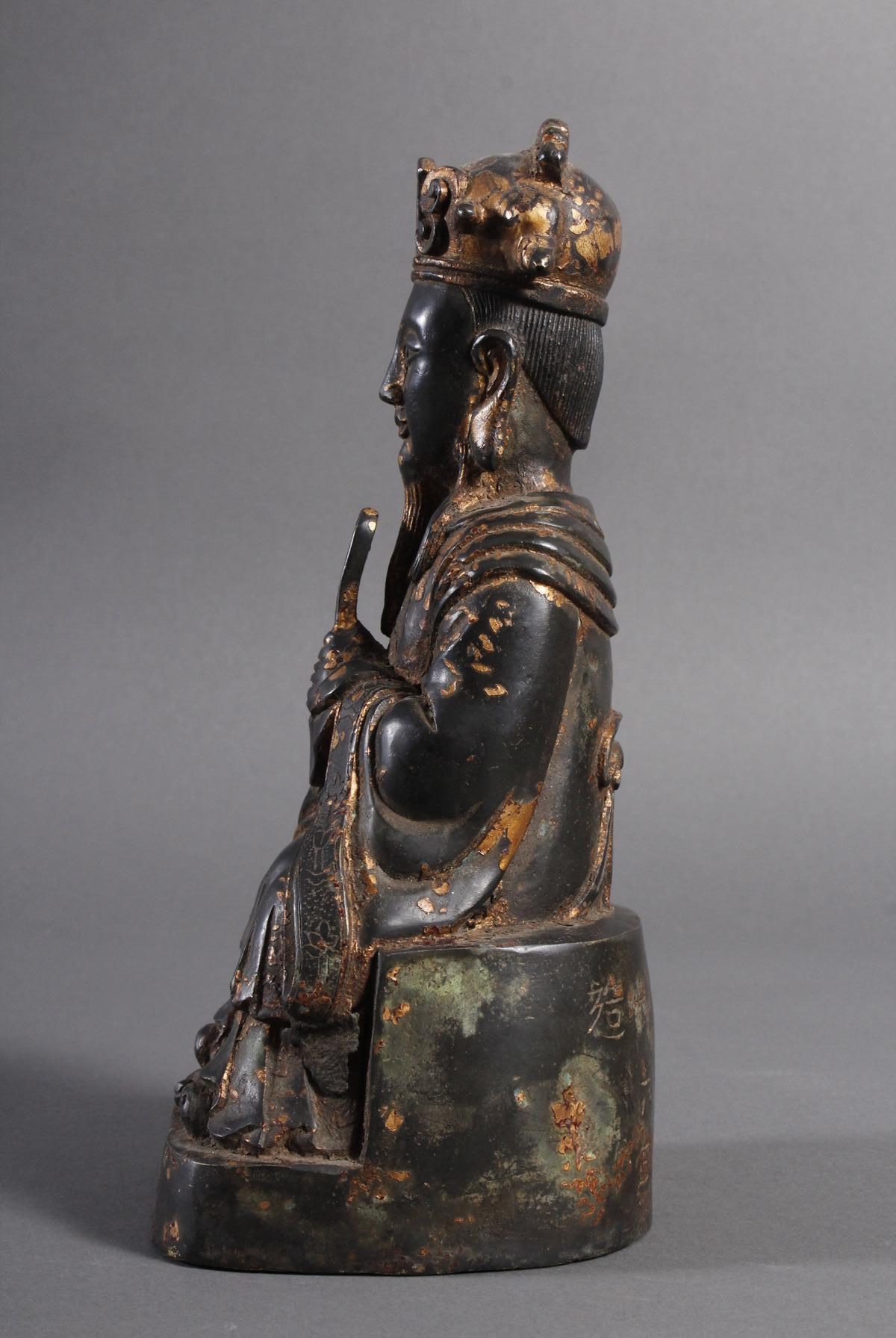 Bronze Buddha, China 19. / 20. Jahrhundert-5