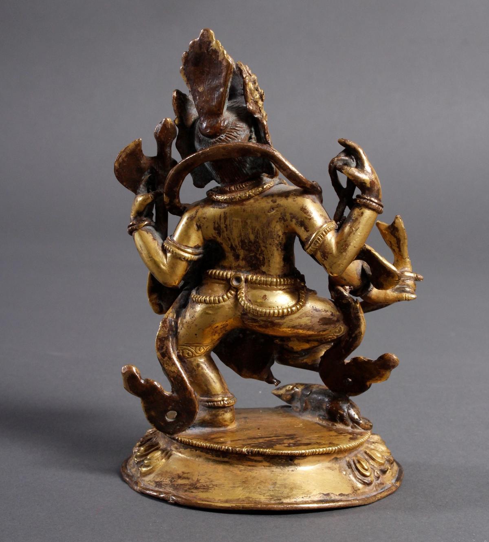 Bronze Buddha Ganesha, Nepal oder Tibet, wohl 19. Jahrhundert-3