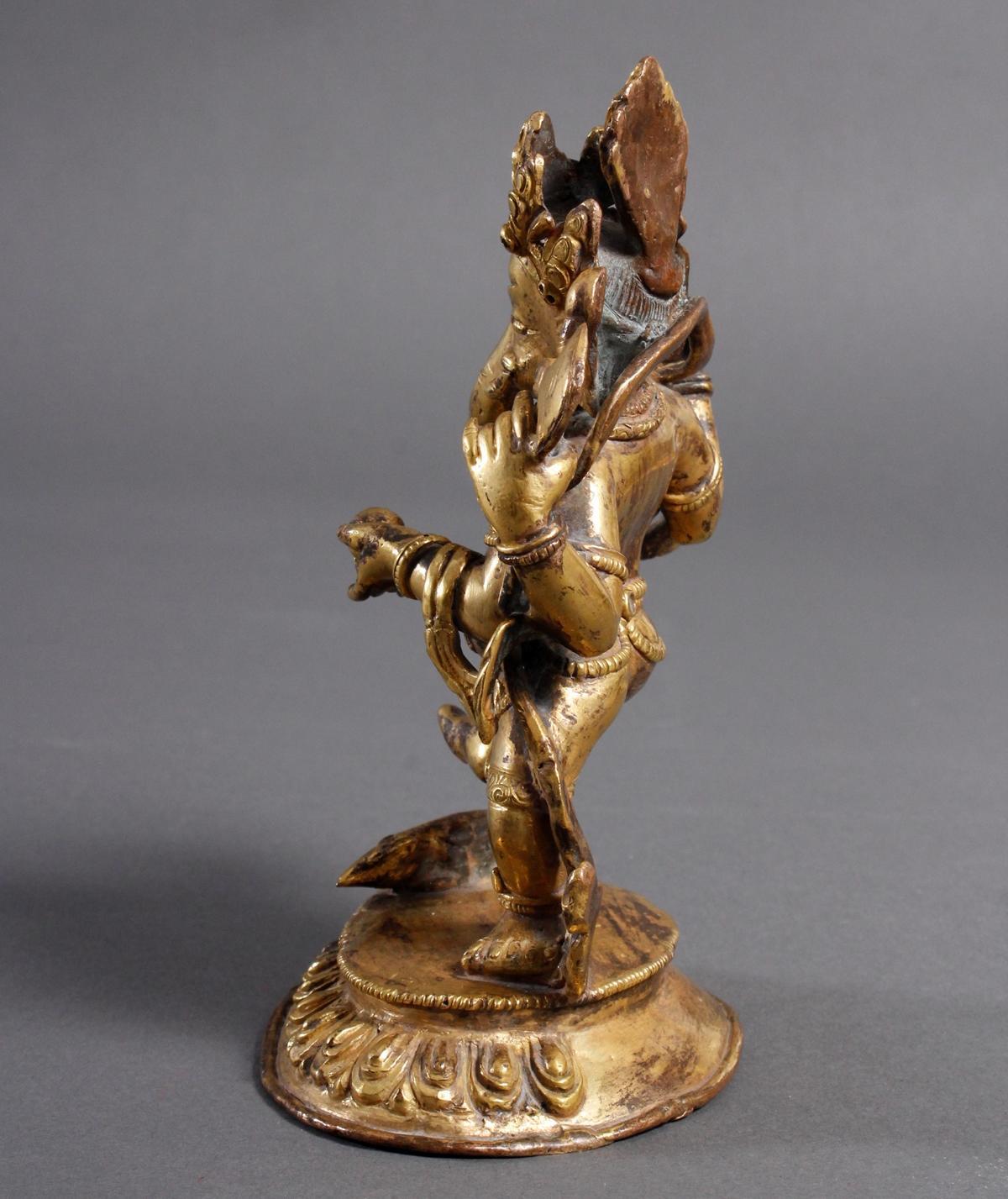 Bronze Buddha Ganesha, Nepal oder Tibet, wohl 19. Jahrhundert-4