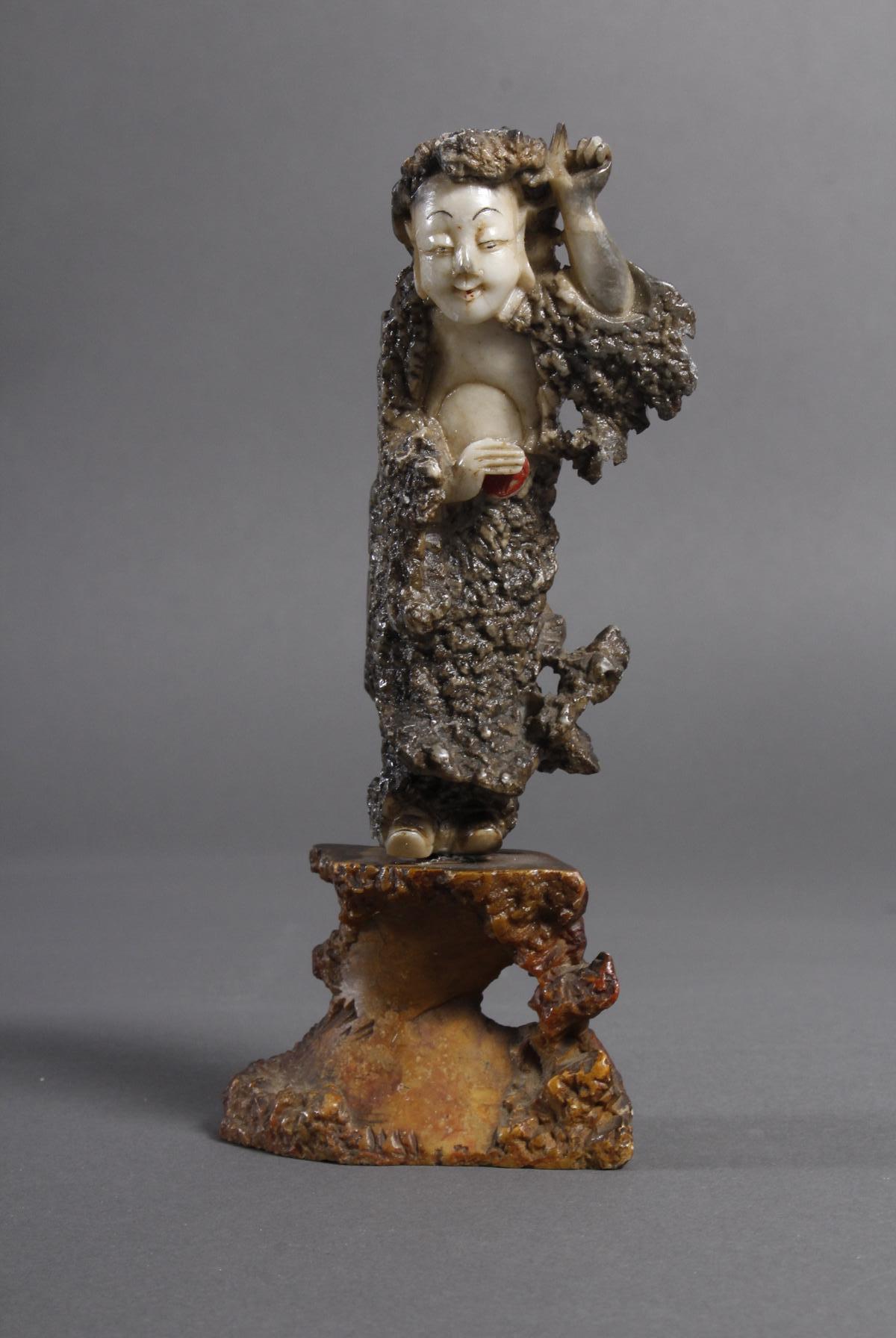 Specksteinfigur, China wohl 18. Jahrhundert