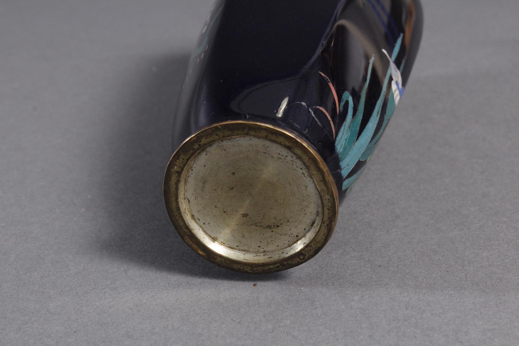 Silbersteg Cloisonné, Japan, Meiji Periode-4