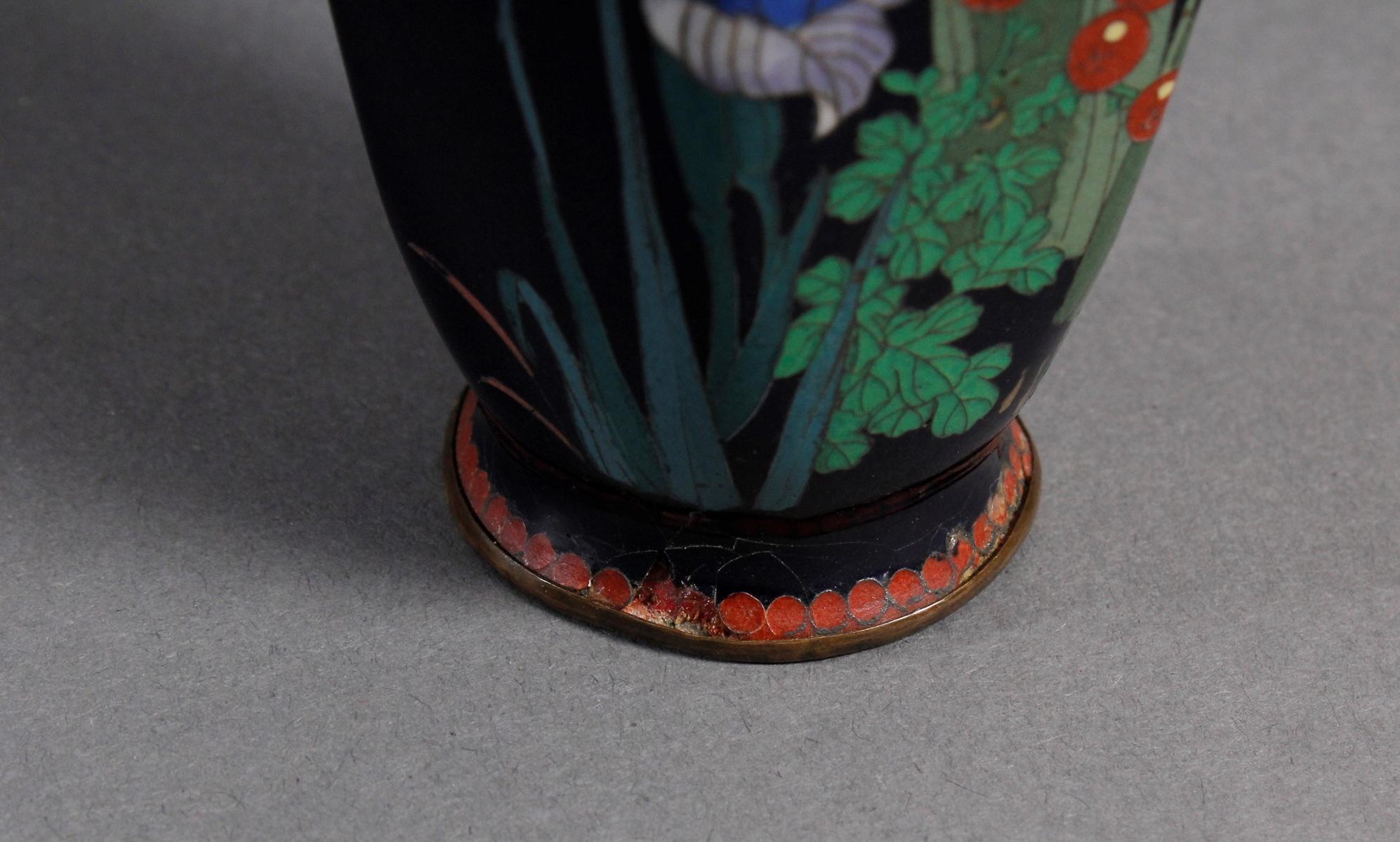 Silbersteg Cloisonné, Japan, Meiji Periode-7