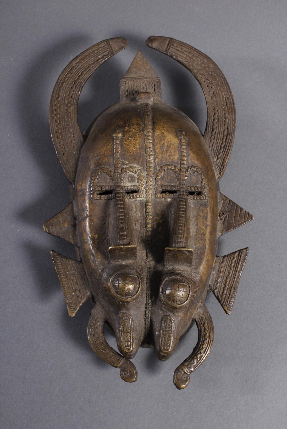 Bronzemaske Senufo / Elfenbeinküste