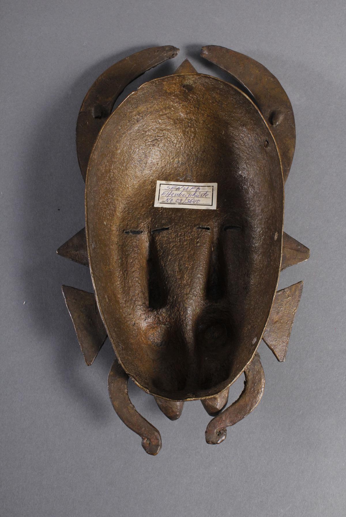 Bronzemaske Senufo / Elfenbeinküste-3