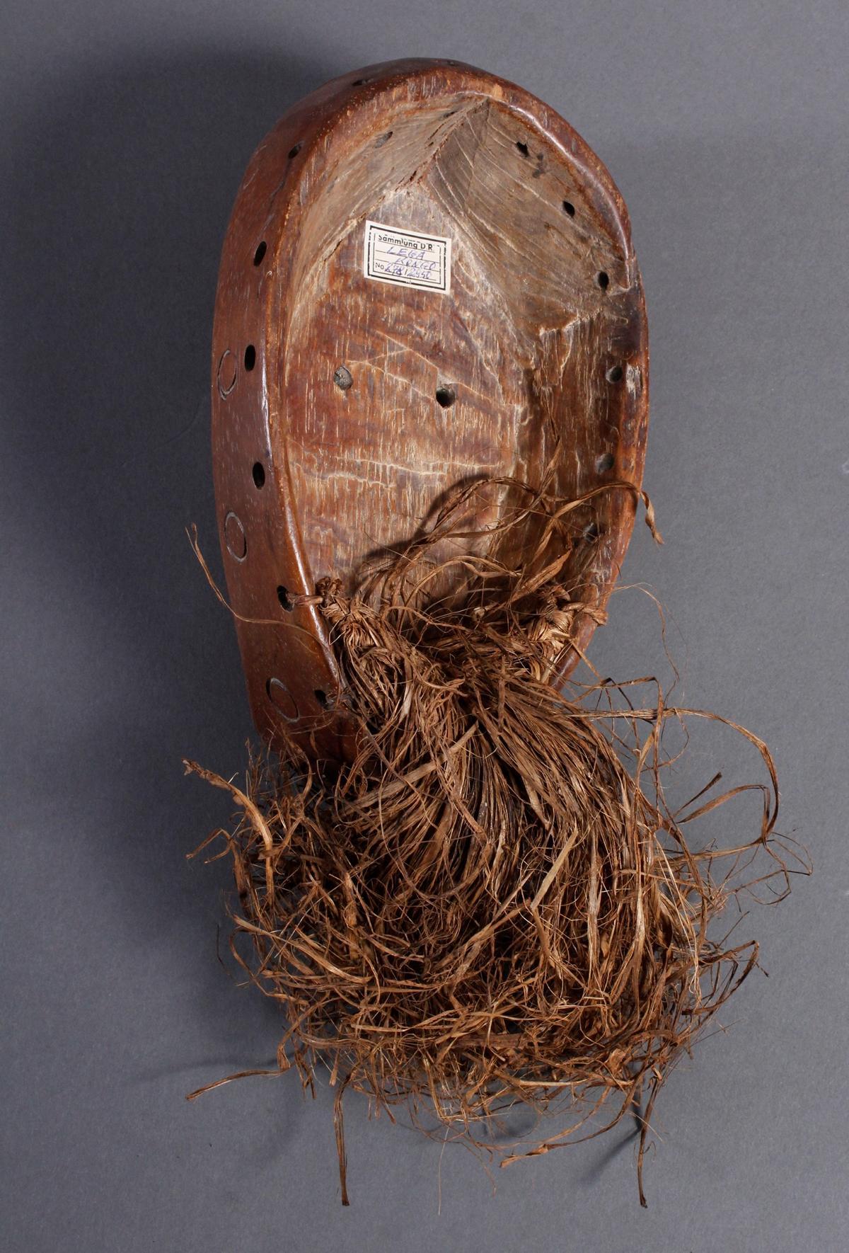 Holzmaske Lega / Kongo-2