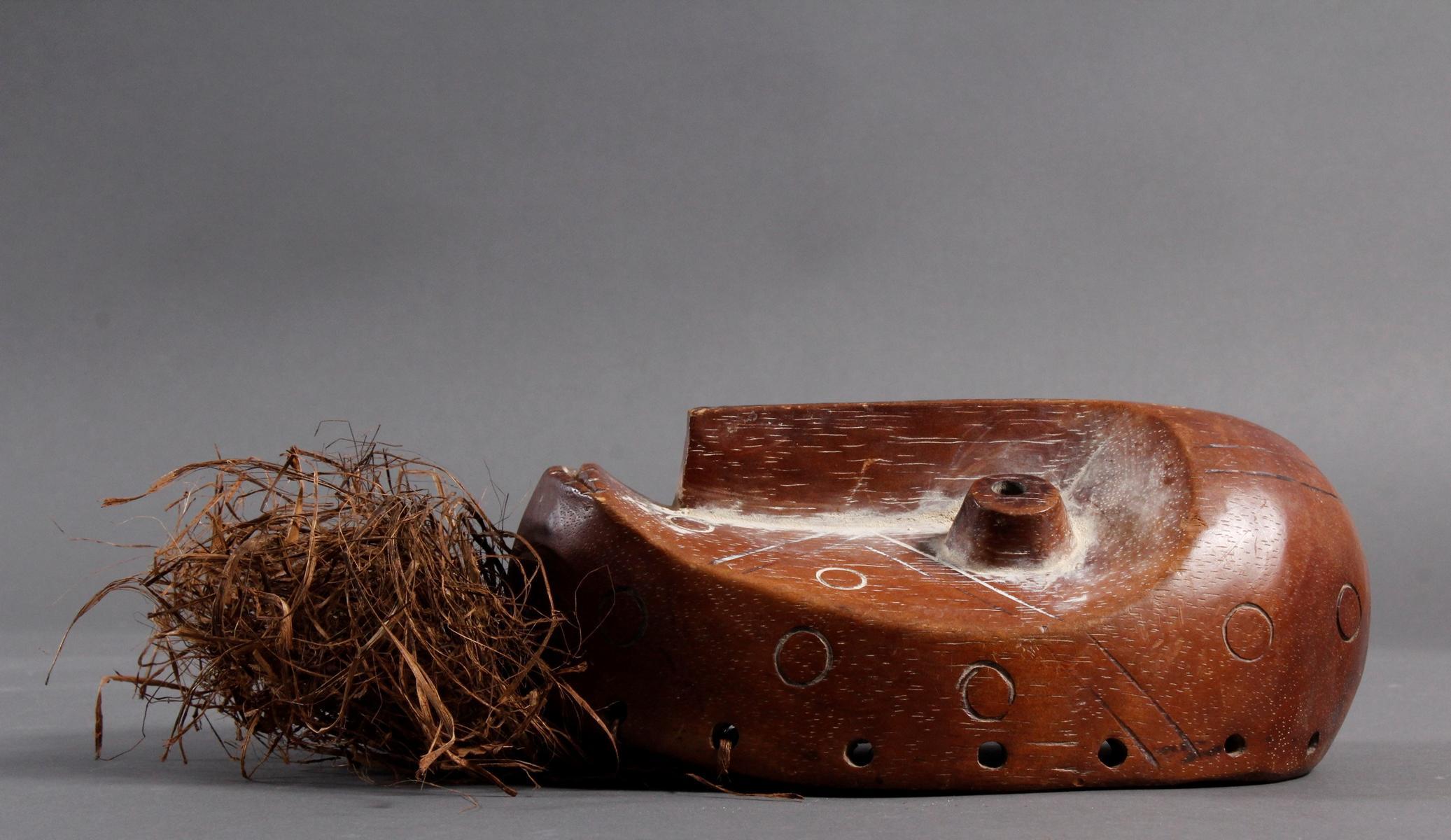 Holzmaske Lega / Kongo-3