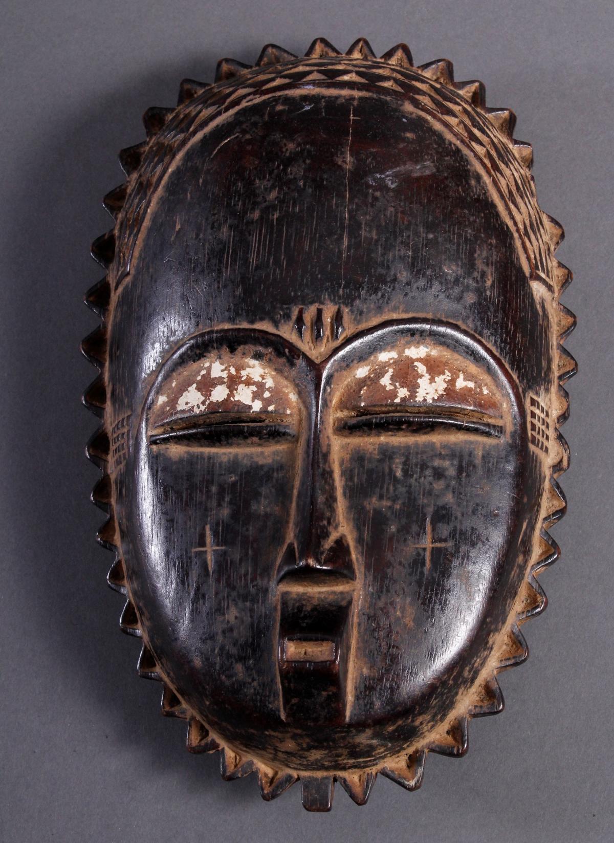 Holzmaske Yaure / Elfenbeinküste